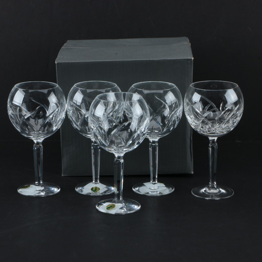 Waterford crystal lucerne balloon wine glasses ebth - Wedgwood crystal wine glasses ...