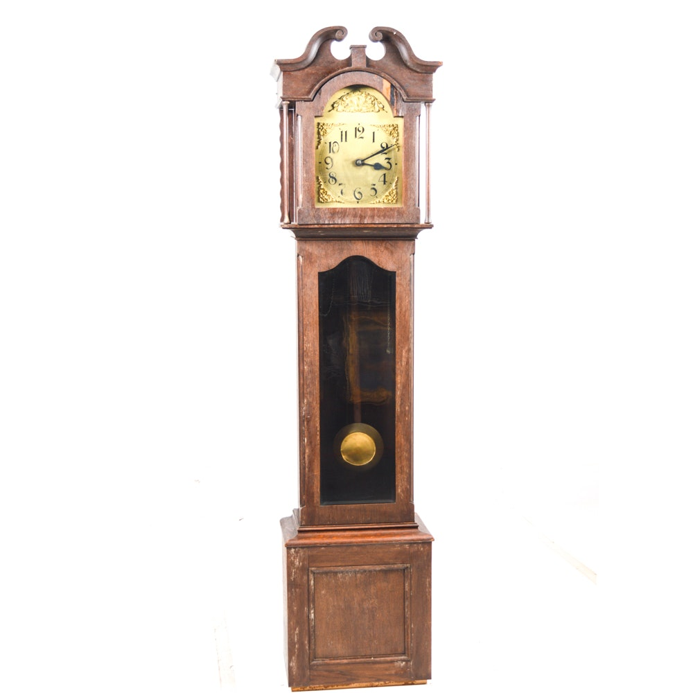 Vintage Federal Style Grandfather Clock