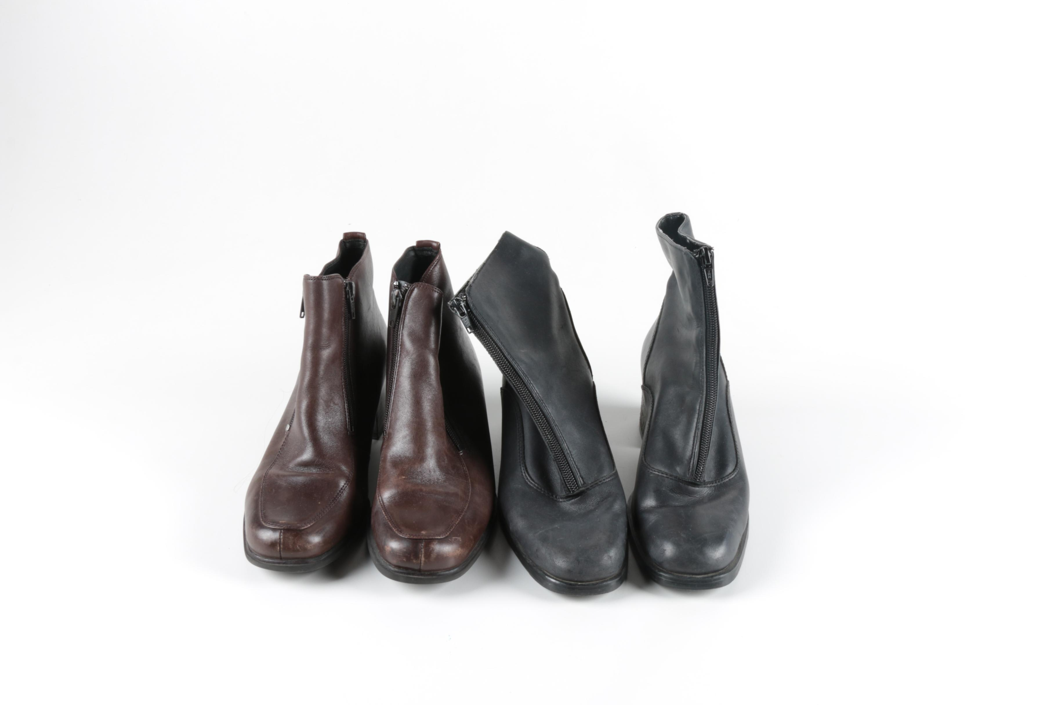 Two Pairs of Women's Leather Boots
