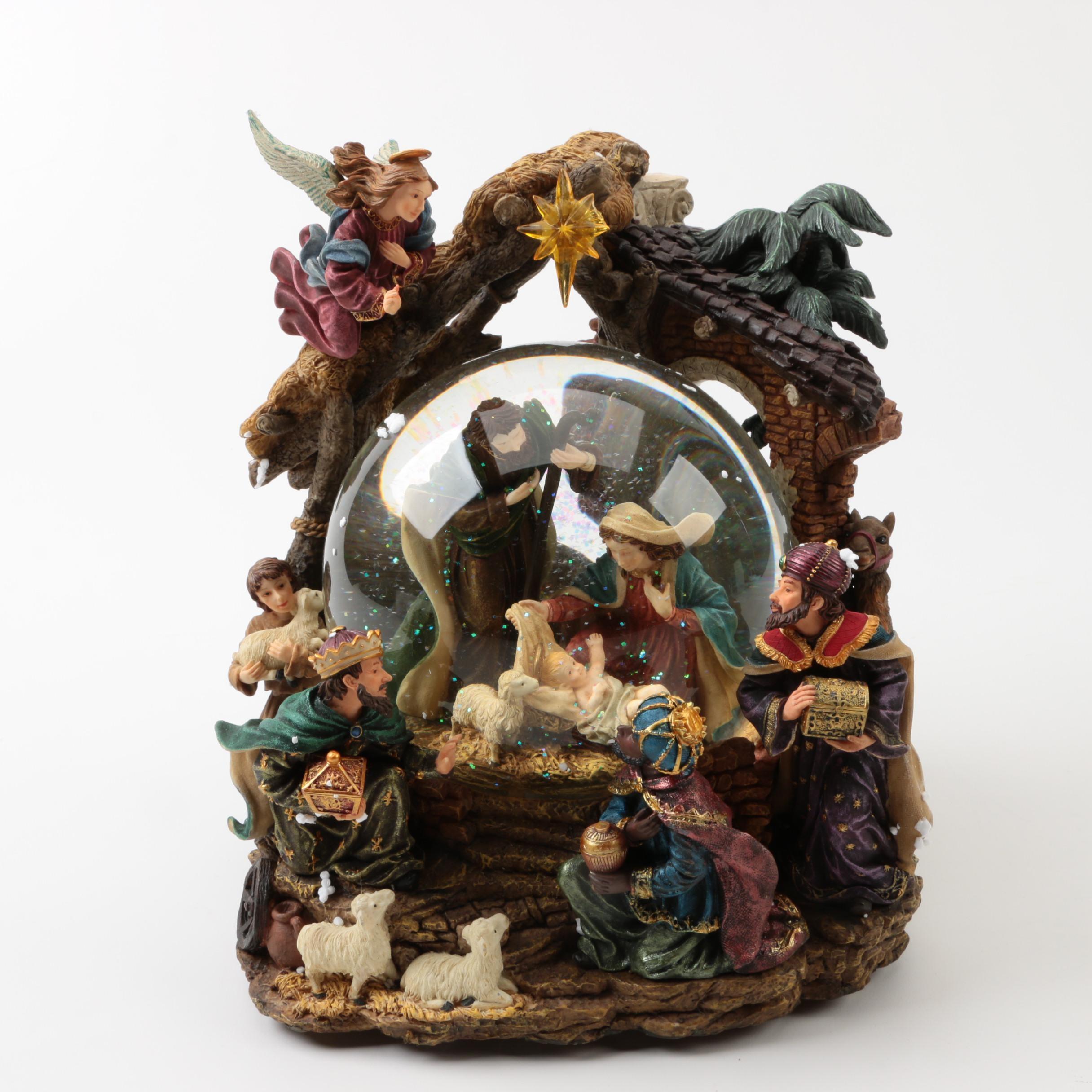 Nativity Scene Musical Waterglobe