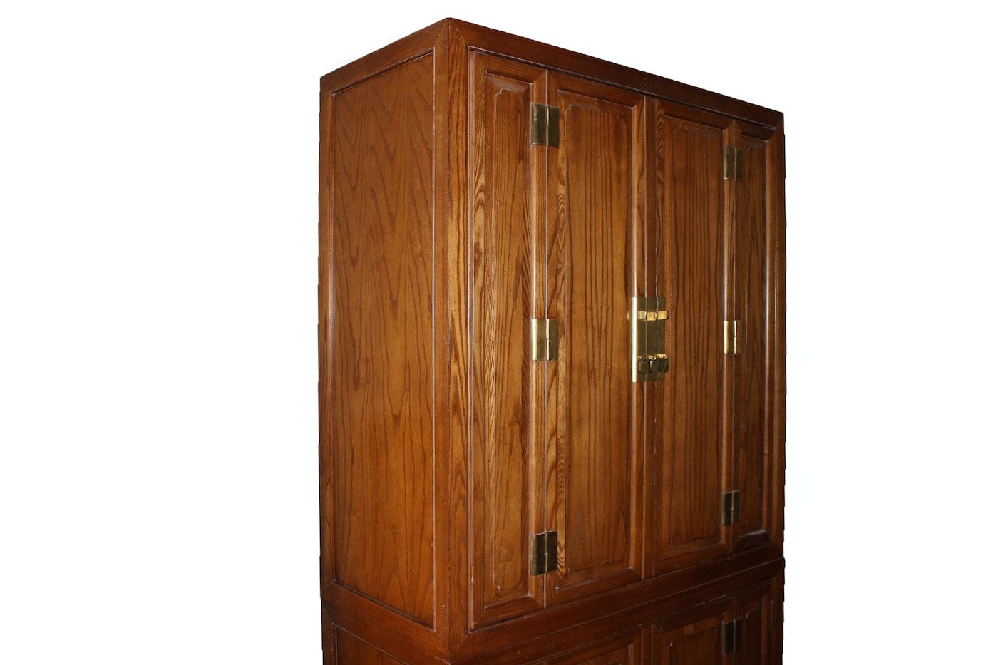 Vintage oak television armoire ebth for Armoire tele