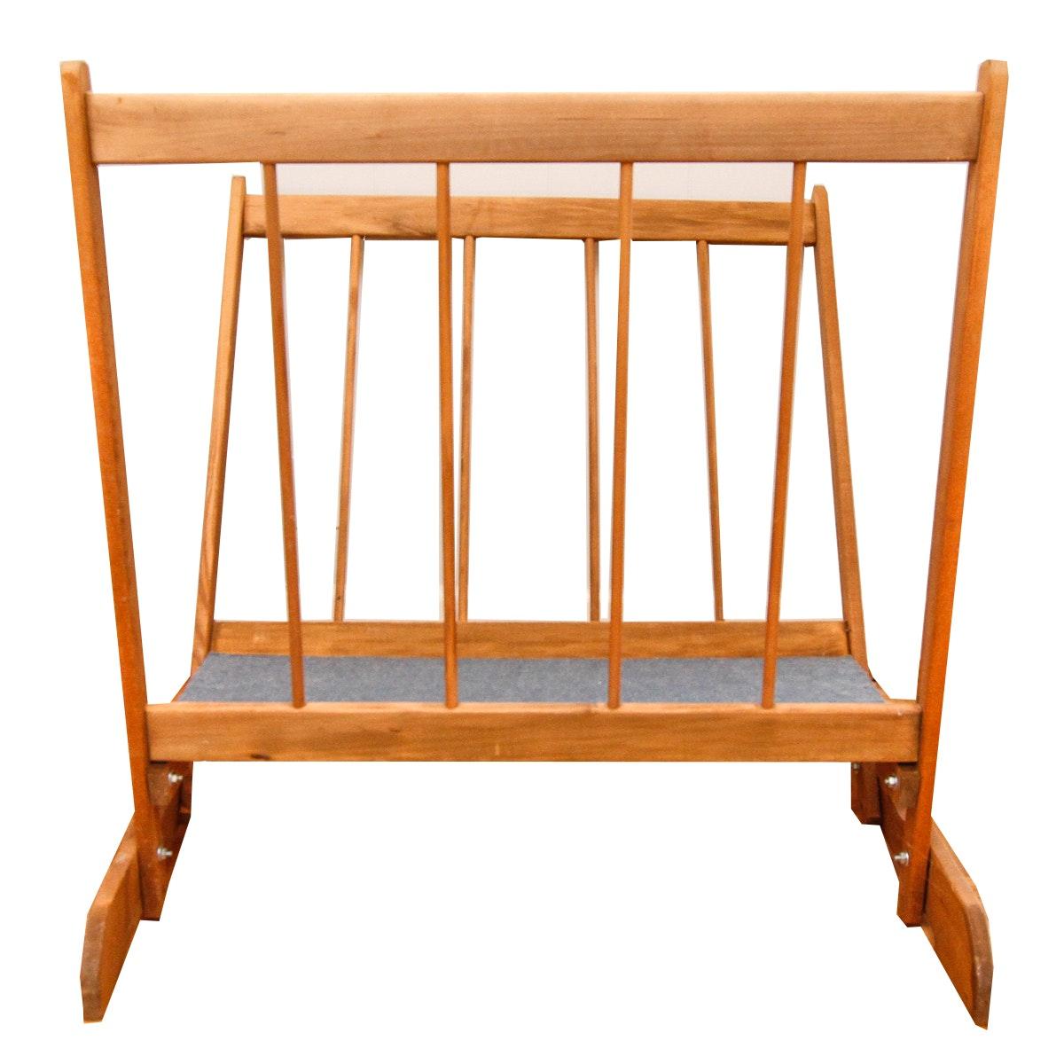 Wooden Art Print Rack
