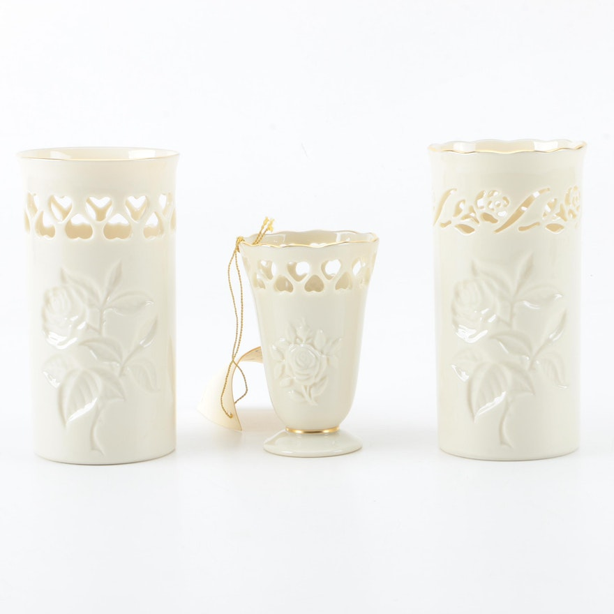 Lenox Vases Hand Decorated With 24k Gold Ebth