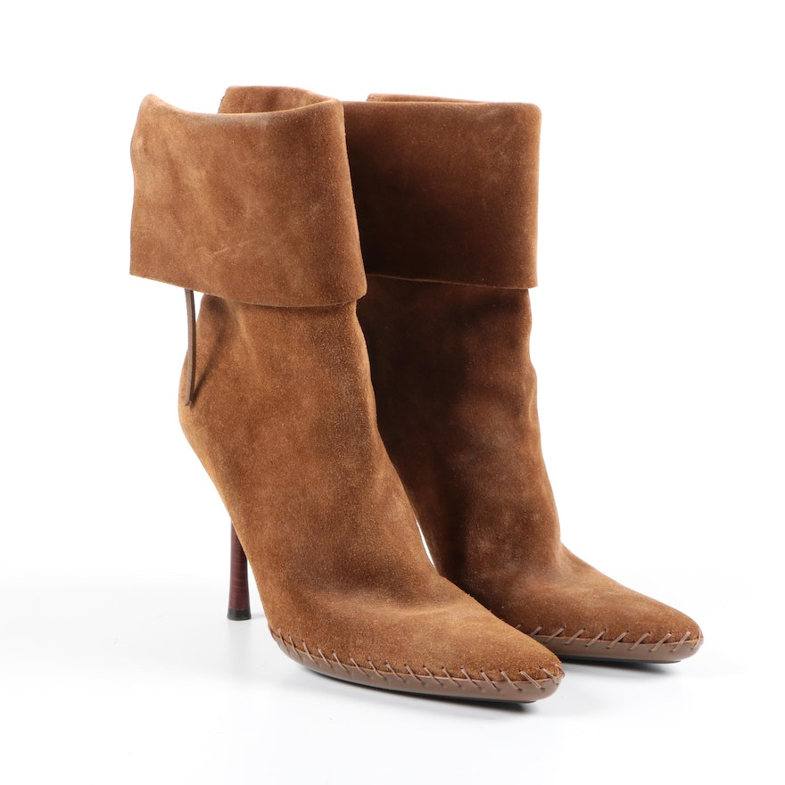 6c711ded57 Gucci Suede High Heeled Boots : EBTH