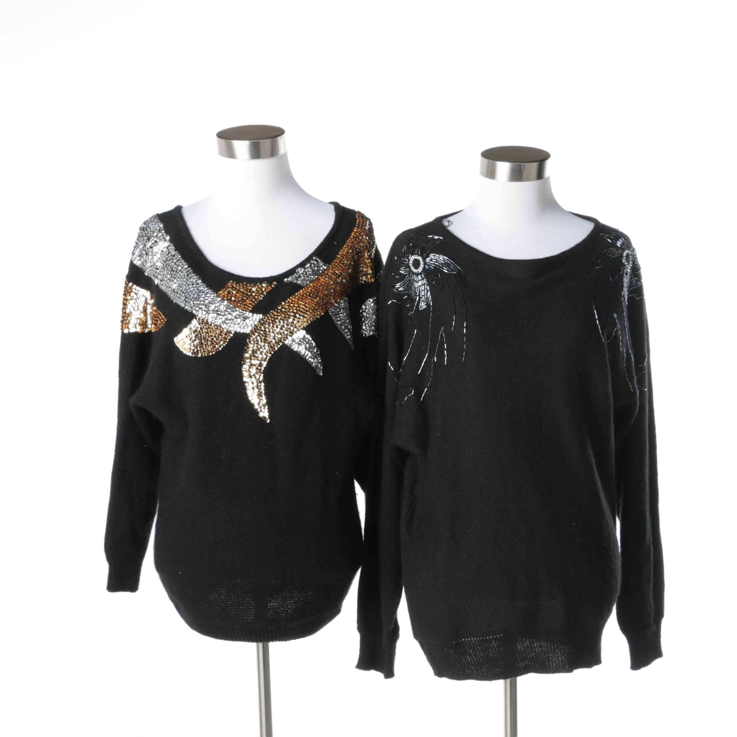 Women's Sequin Sweaters