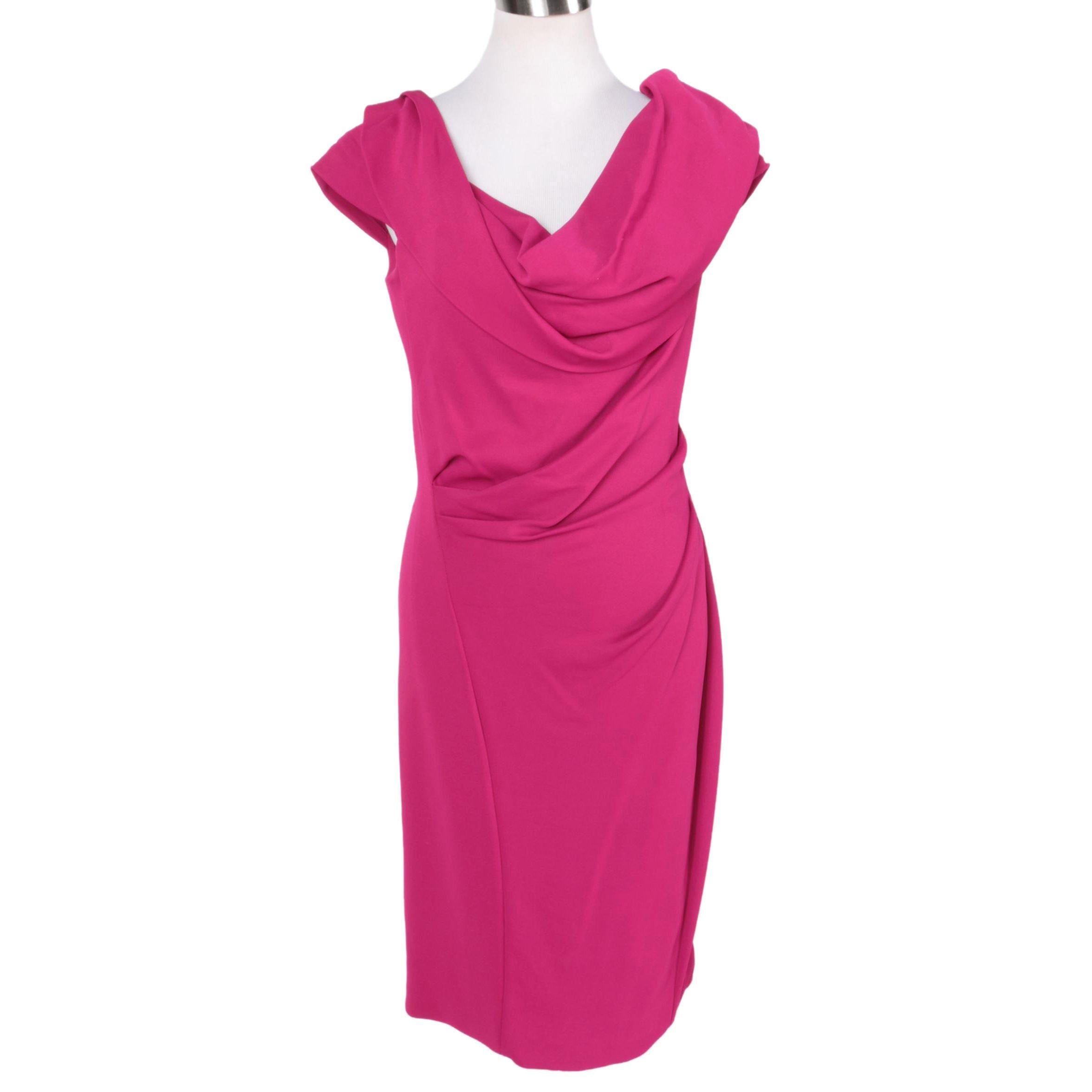Donna Karan Fuchsia Sheath Dress