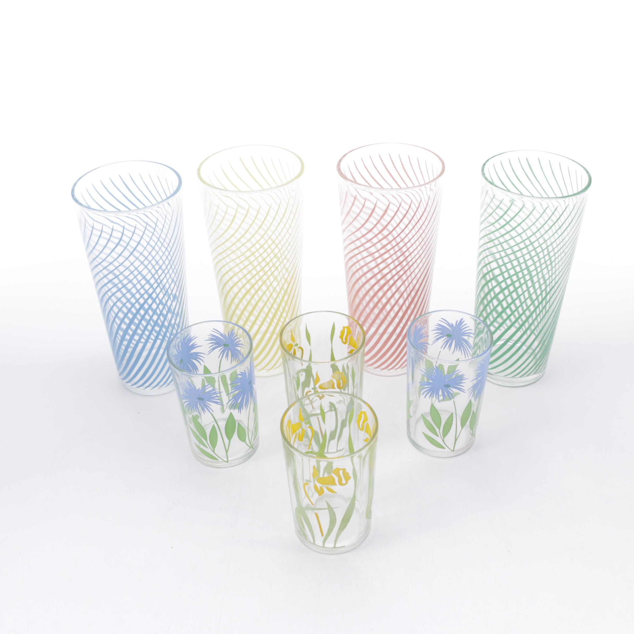 Vintage Tumblers and Juice Glasses