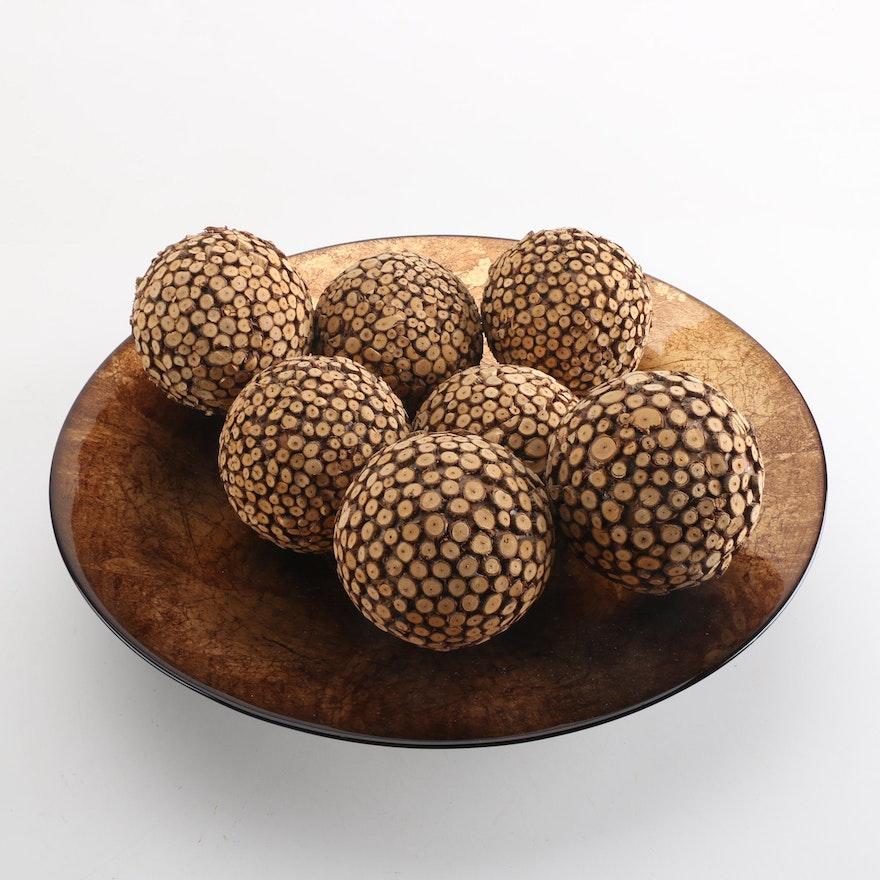 Glass Bowl With Decorative Balls EBTH Interesting Decorative Balls For Bowl