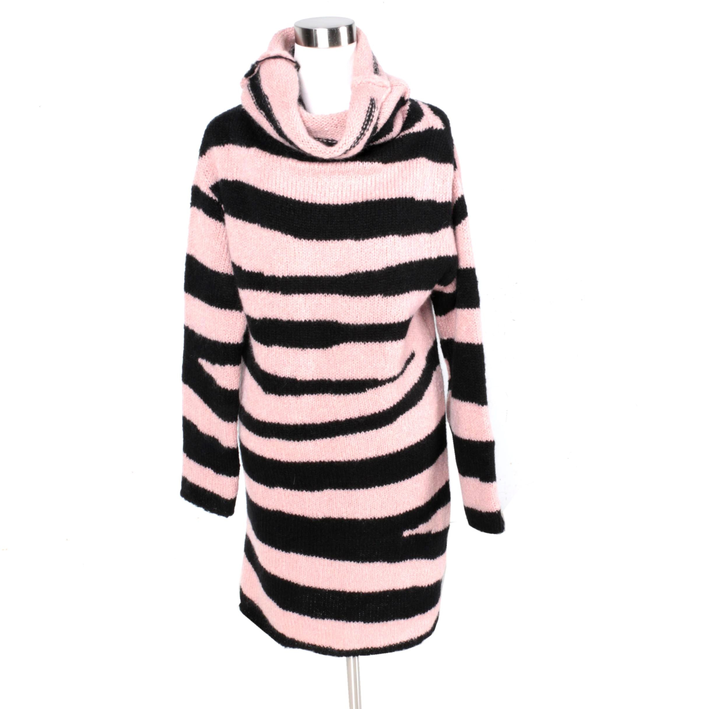 McQ Alexander McQueen Pink and Black Sweater dress