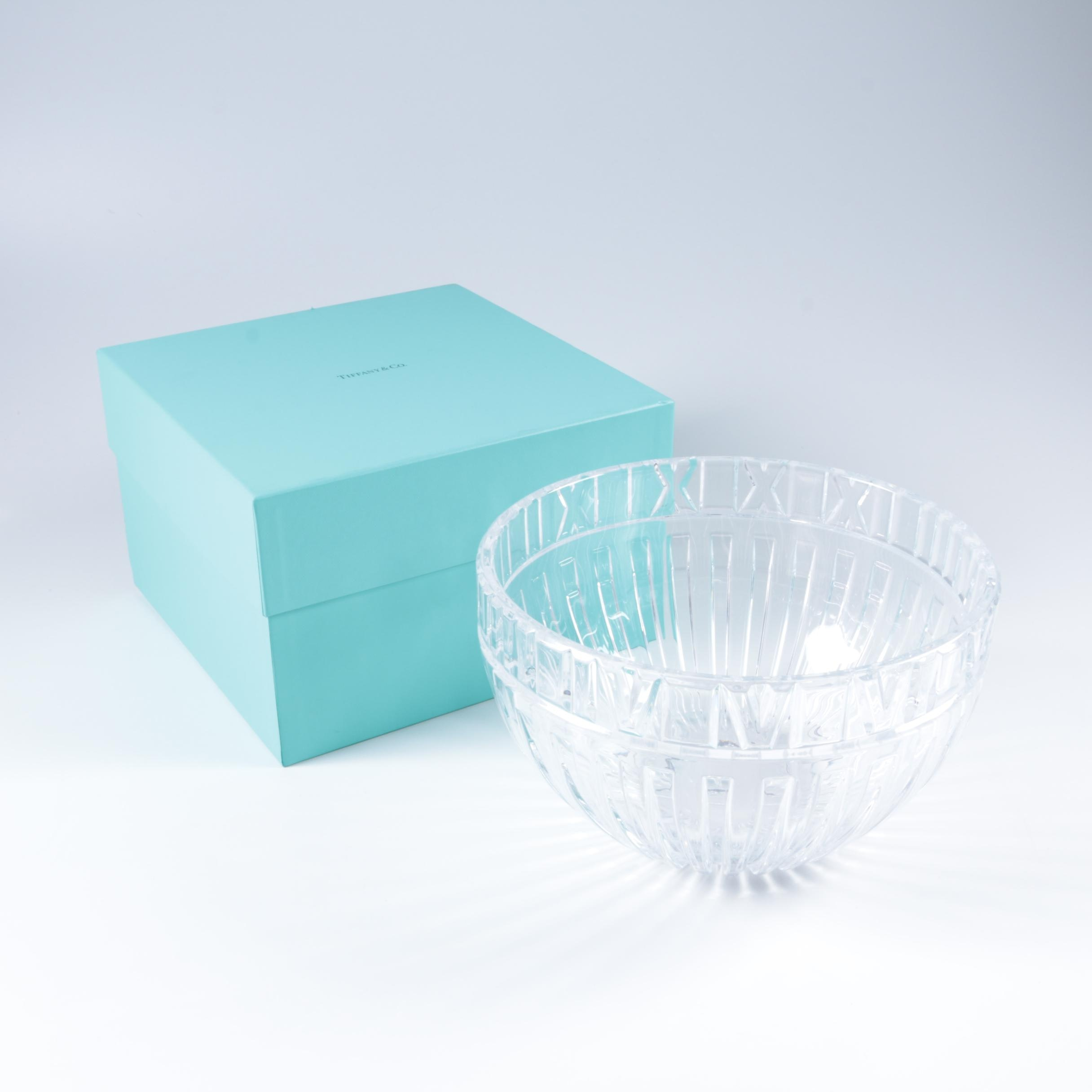 "Tiffany & Co. Crystal ""Atlas"" Bowl"