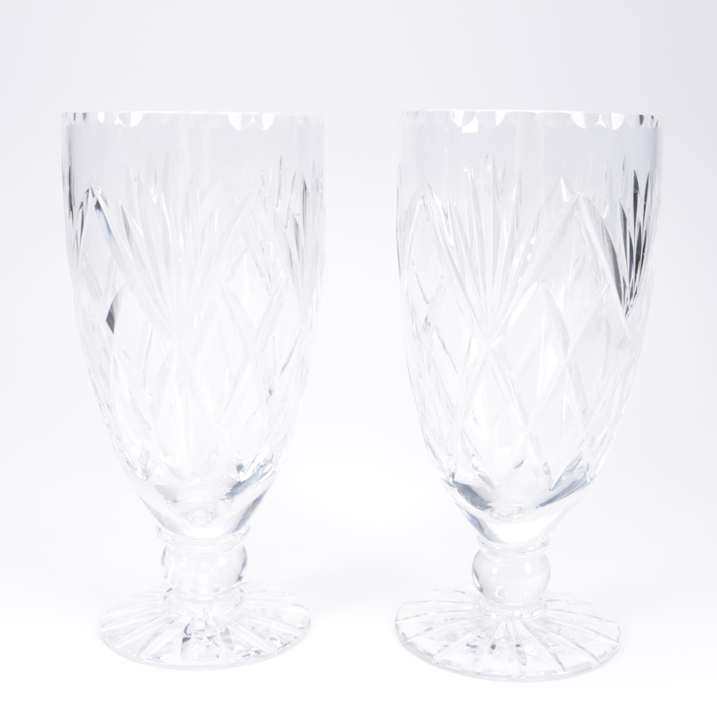 Matching Crystal Vase Pair