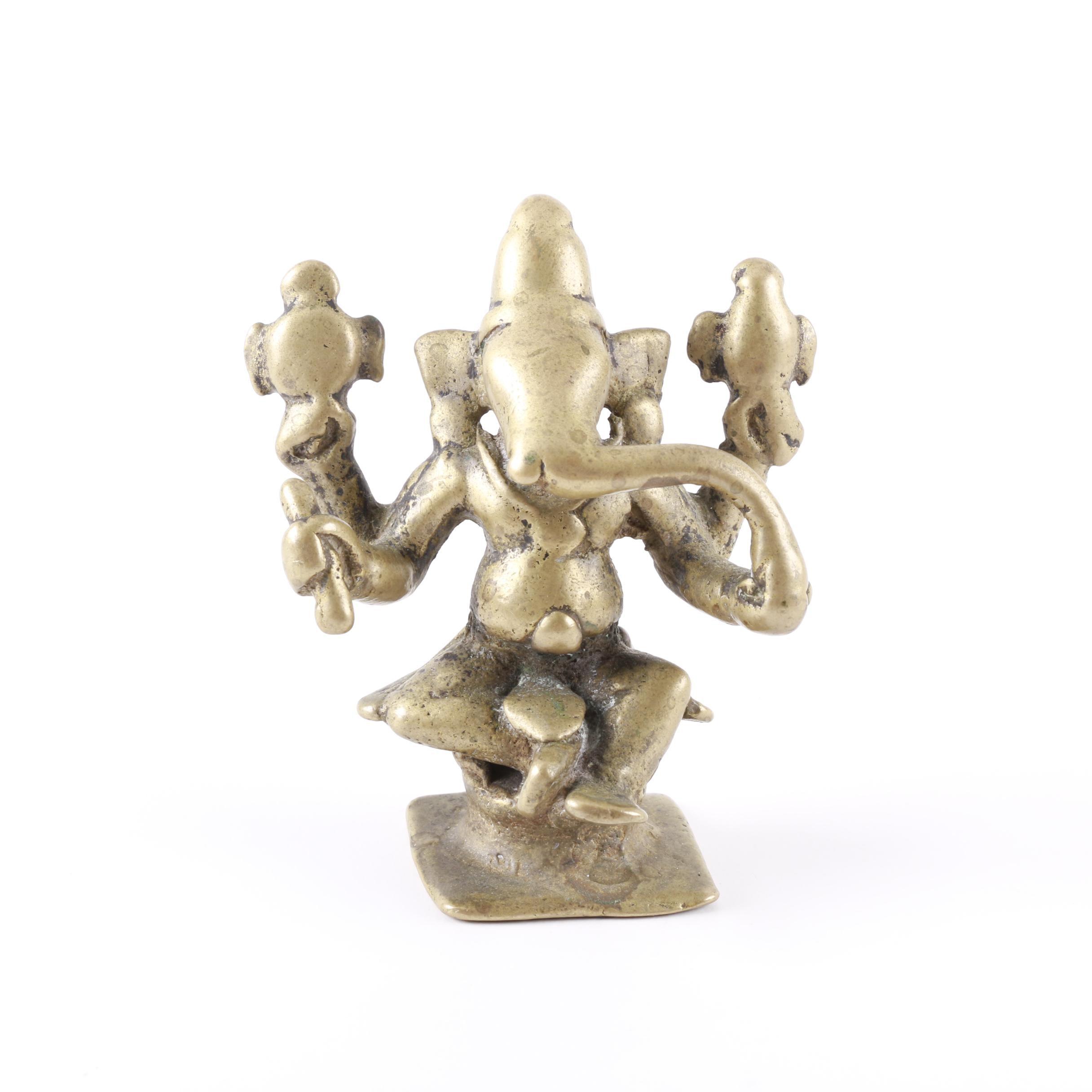 Vintage Brass Lord Ganesha Statuette