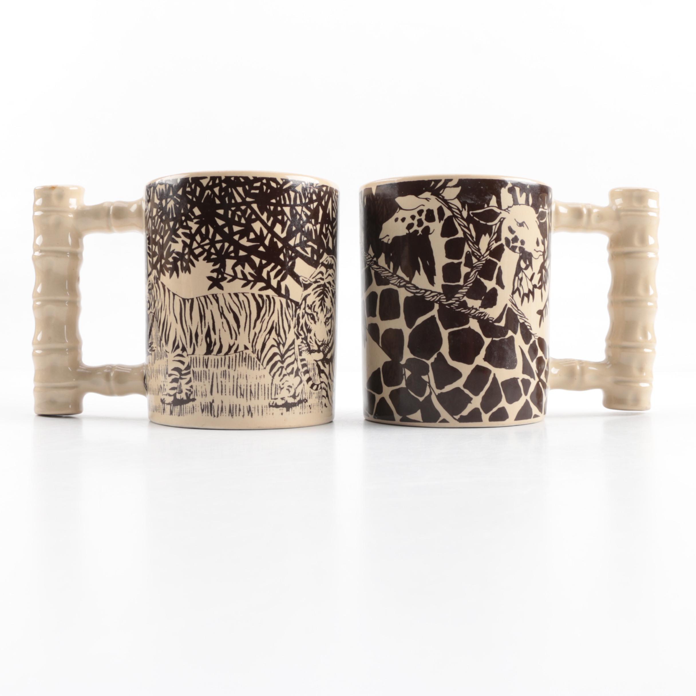 Royal Crown African Savanna Pattern Mugs