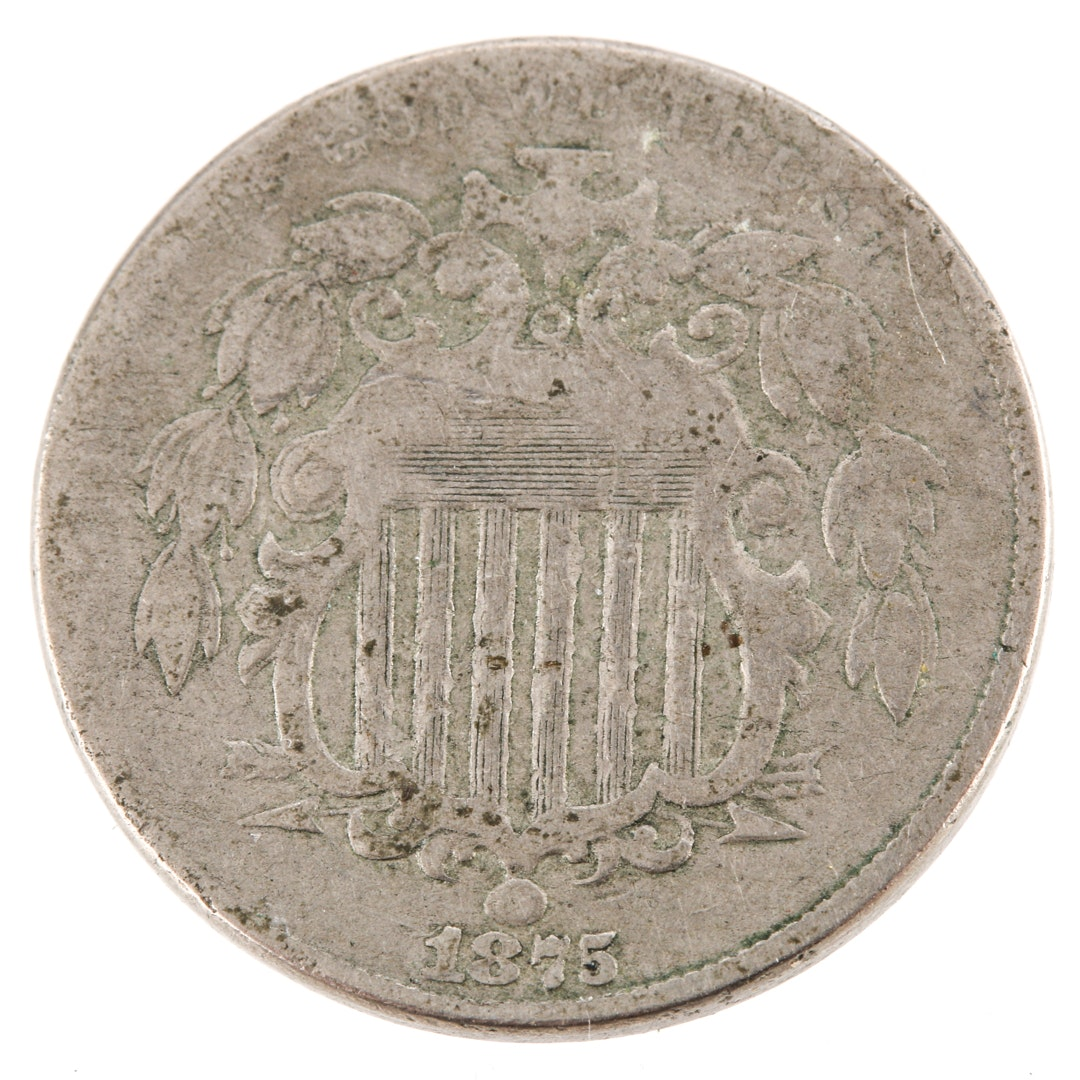 1875 U.S. Shield Nickel