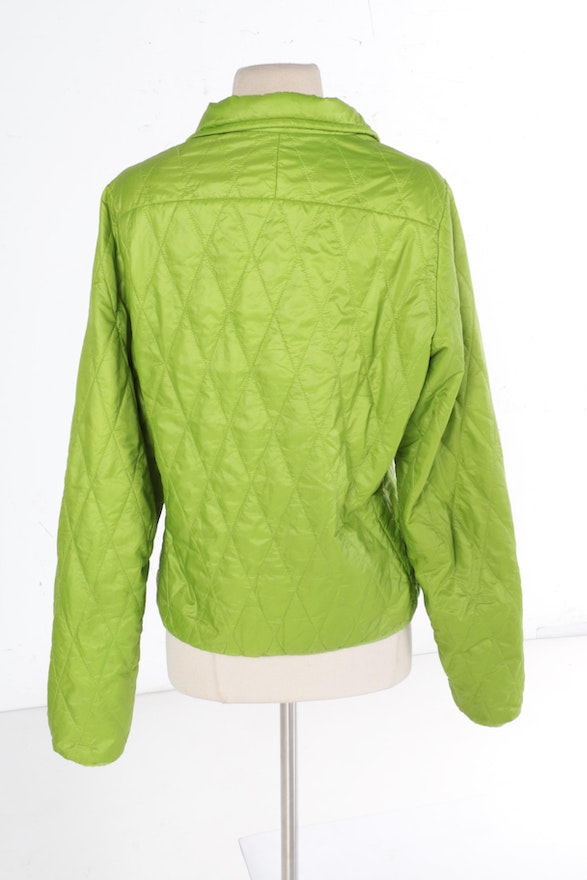 Women S Patagonia Lime Green Quilted Jacket Ebth