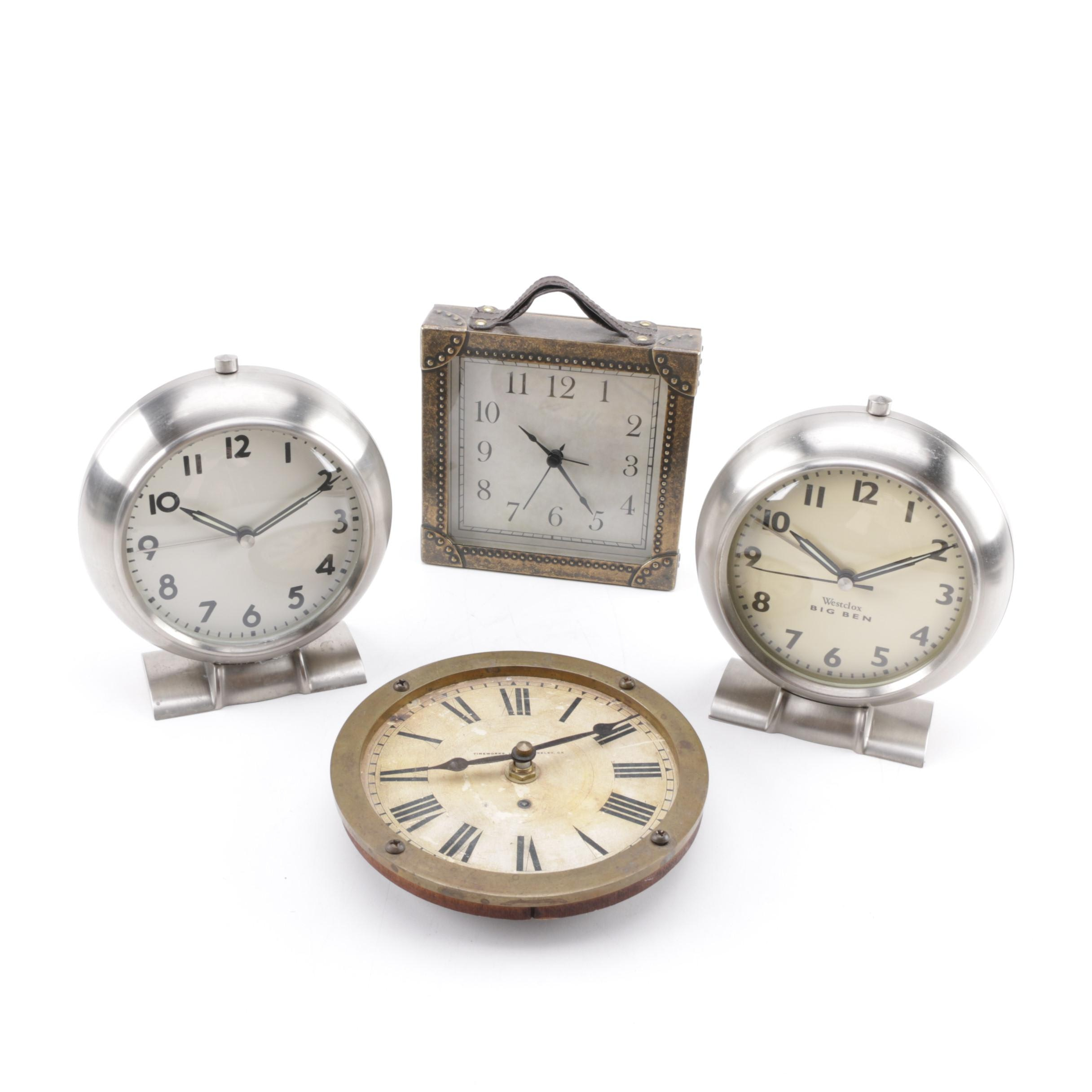 Assorted Wall and Shelf Clocks Featuring Timeworks