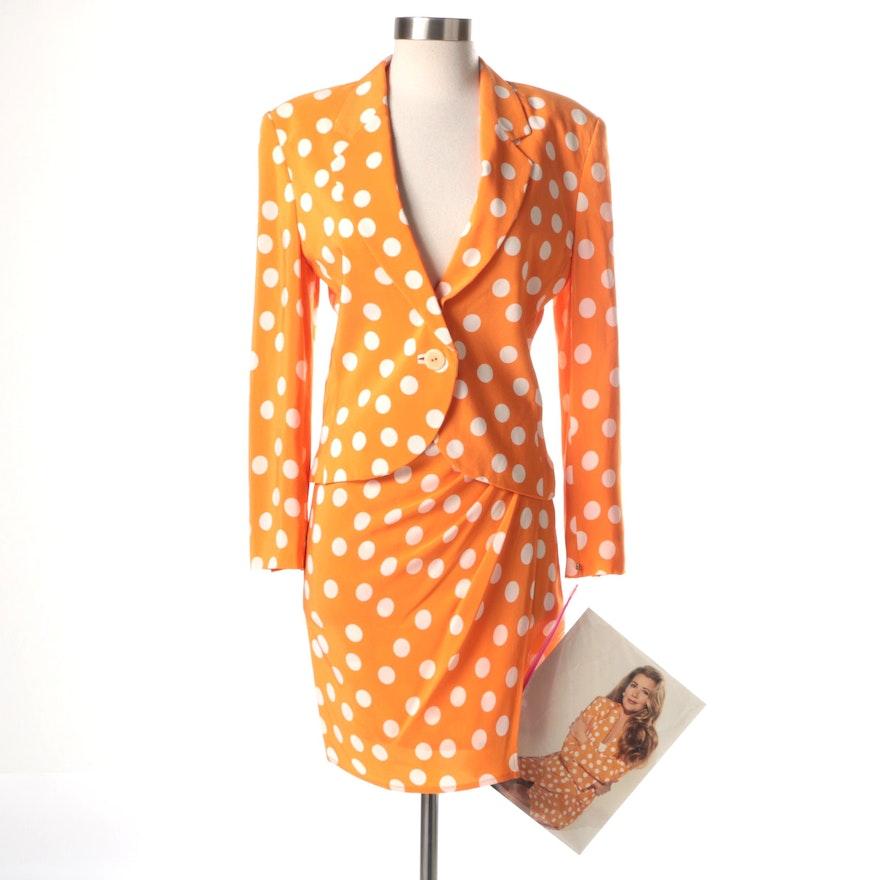 Genny Silk Polka Dot Suit