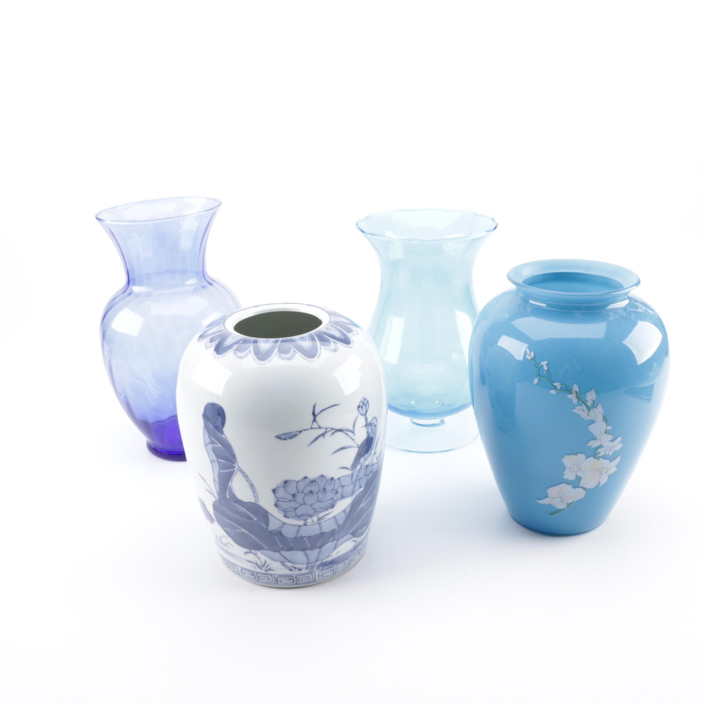 Blue and White Vase Collection