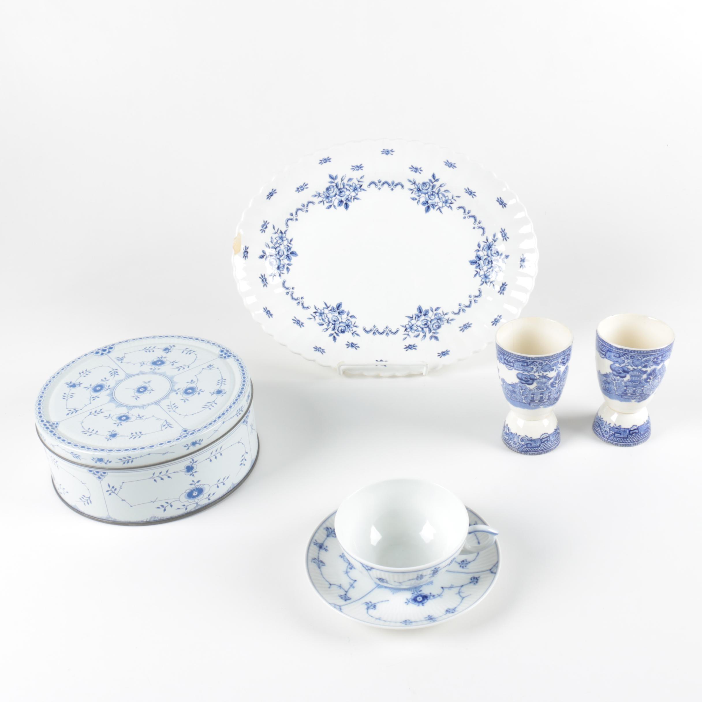Blue and White Tableware including Royal Copenhagen and JG Meakin ...  sc 1 st  EBTH.com & Blue and White Tableware including Royal Copenhagen and JG Meakin : EBTH