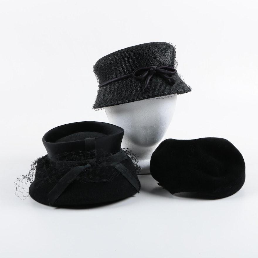 b65247b621e67 Women s Circa 1960s Vintage Hats and Hat Box Including Marshall Fields    Company ...