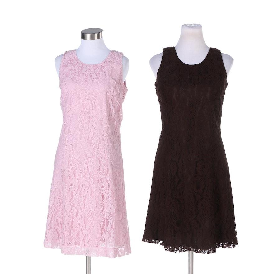 6caf2d4e5932 Melody Thomas Scott Floral Lace Sleeveless Dresses   EBTH