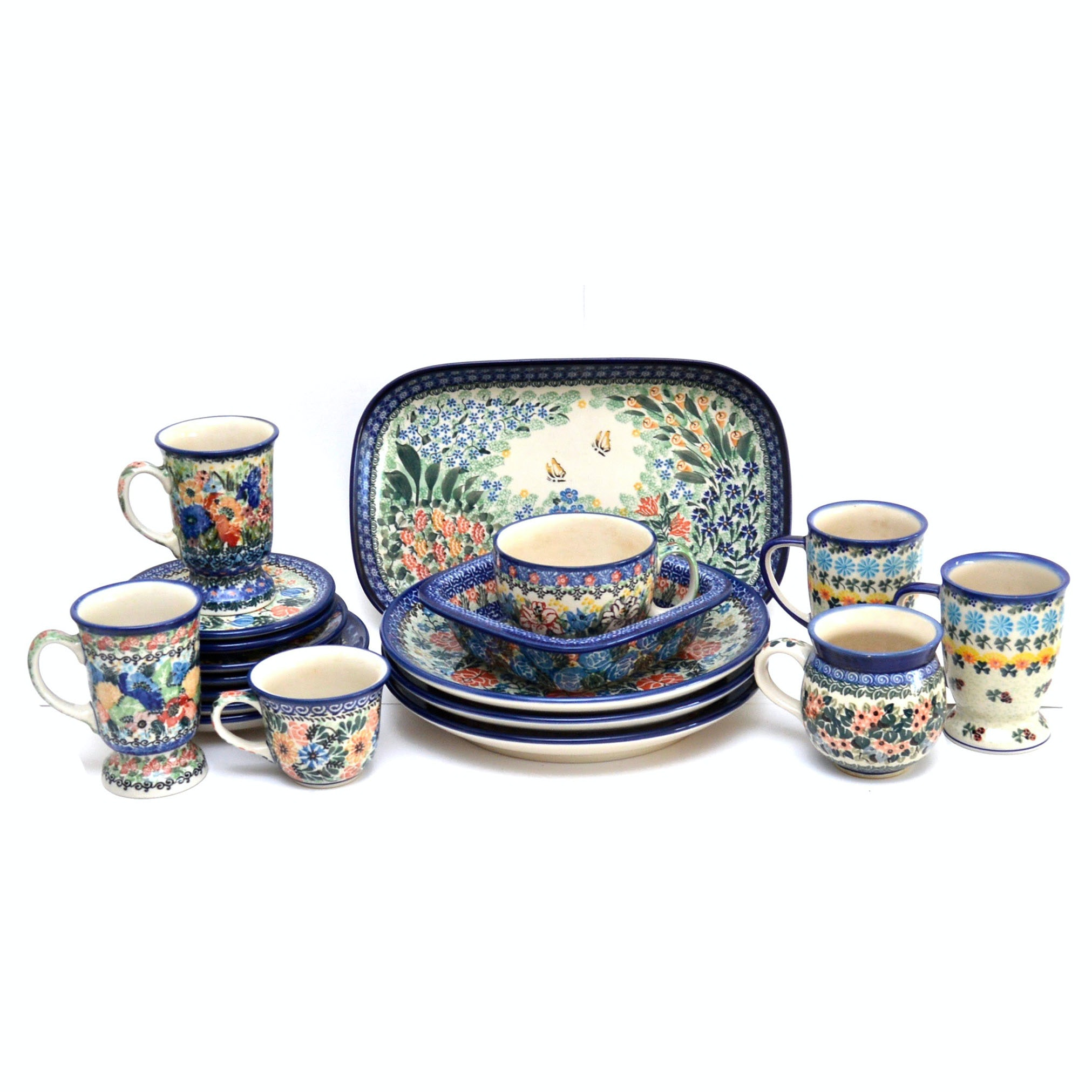 Collection of Unikat Polish Pottery