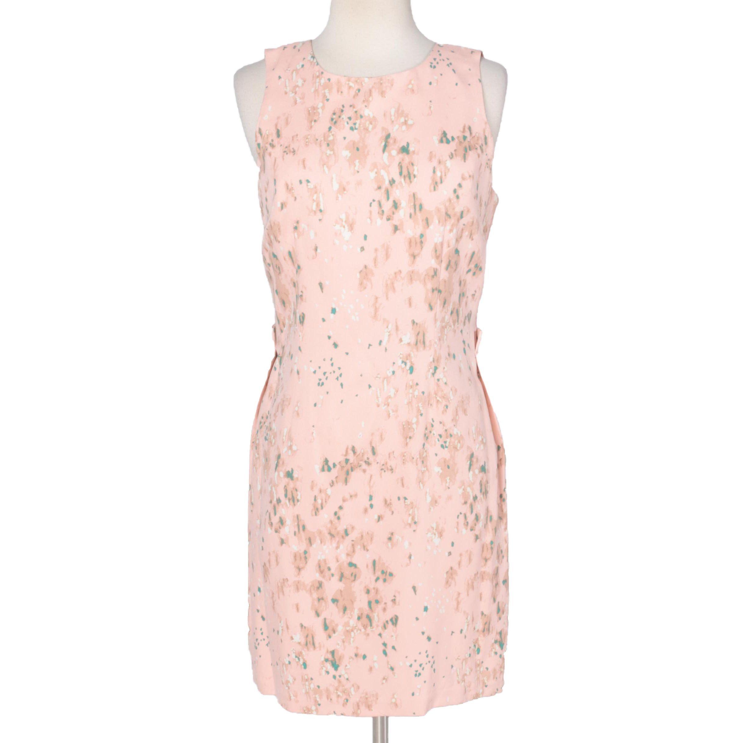 Poleci Sleeveless Pink Silk Dress