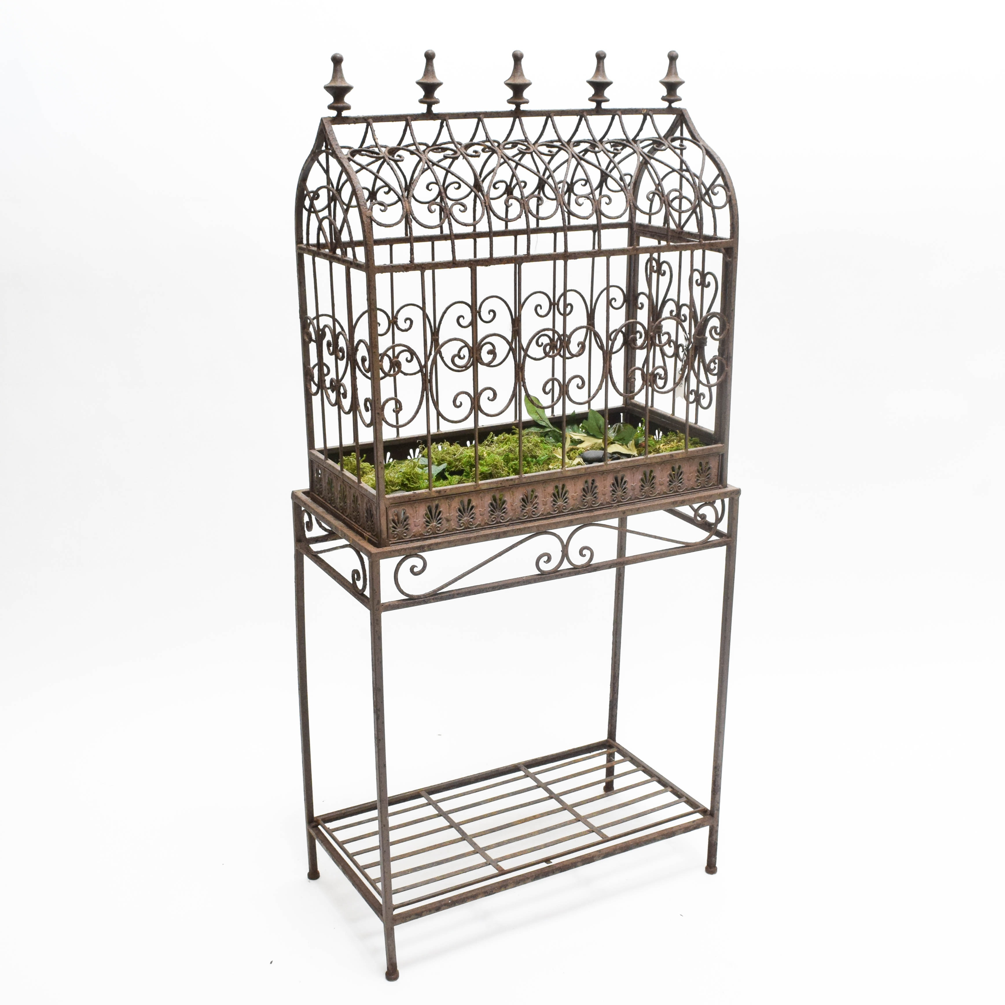 Vintage Metal Cage and Stand