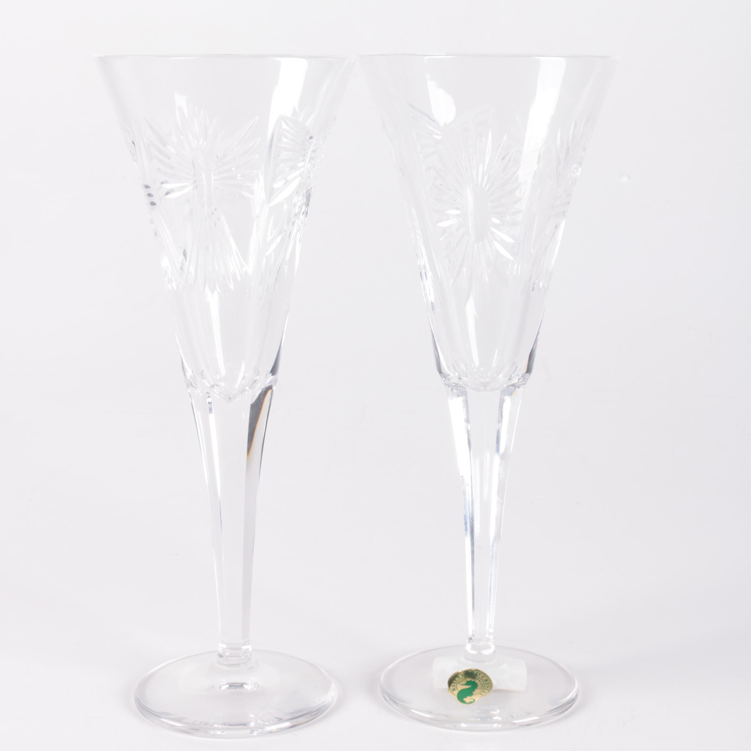 Waterford Crystal Millennium Collection Crystal Toasting Flutes