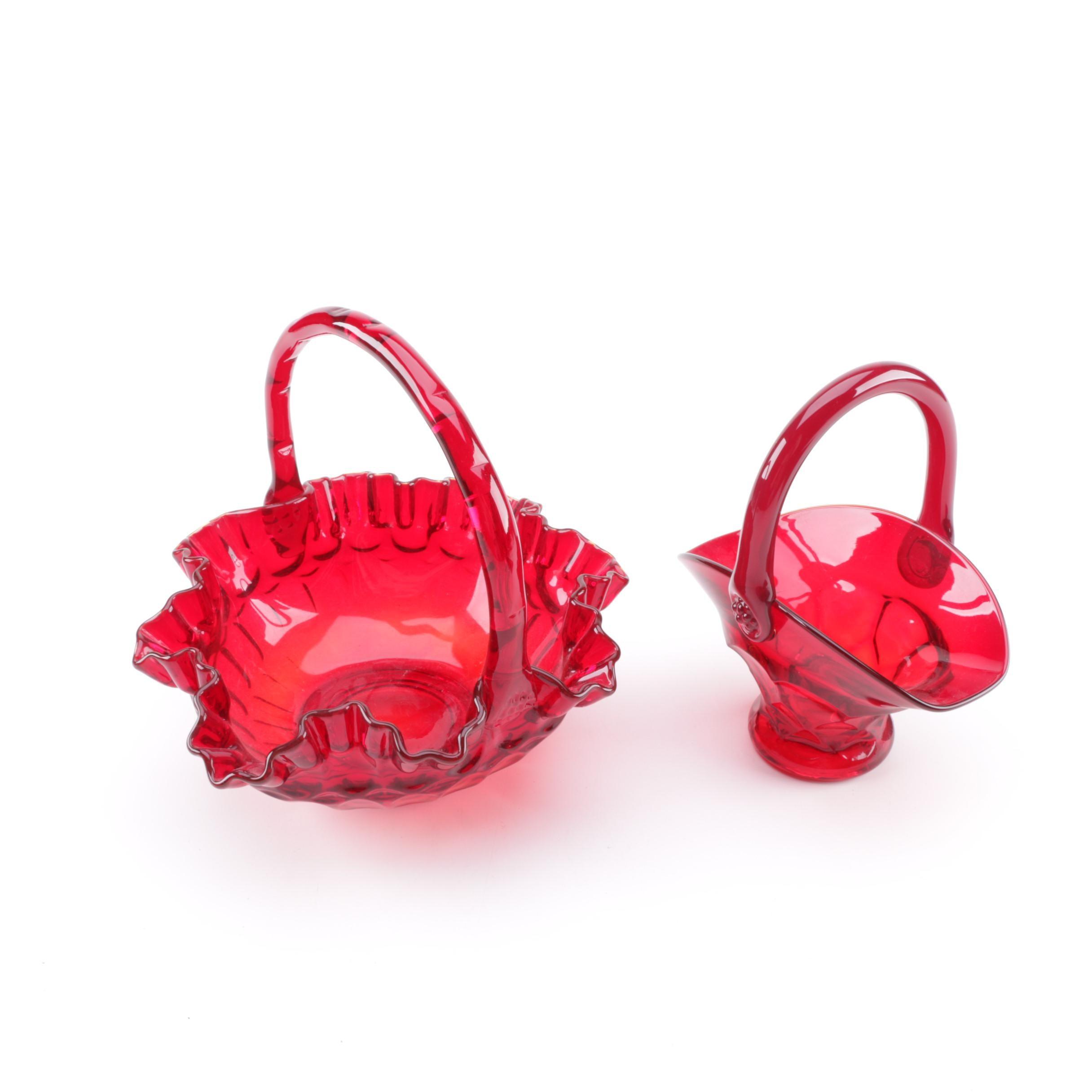 Fenton Style Glass Baskets