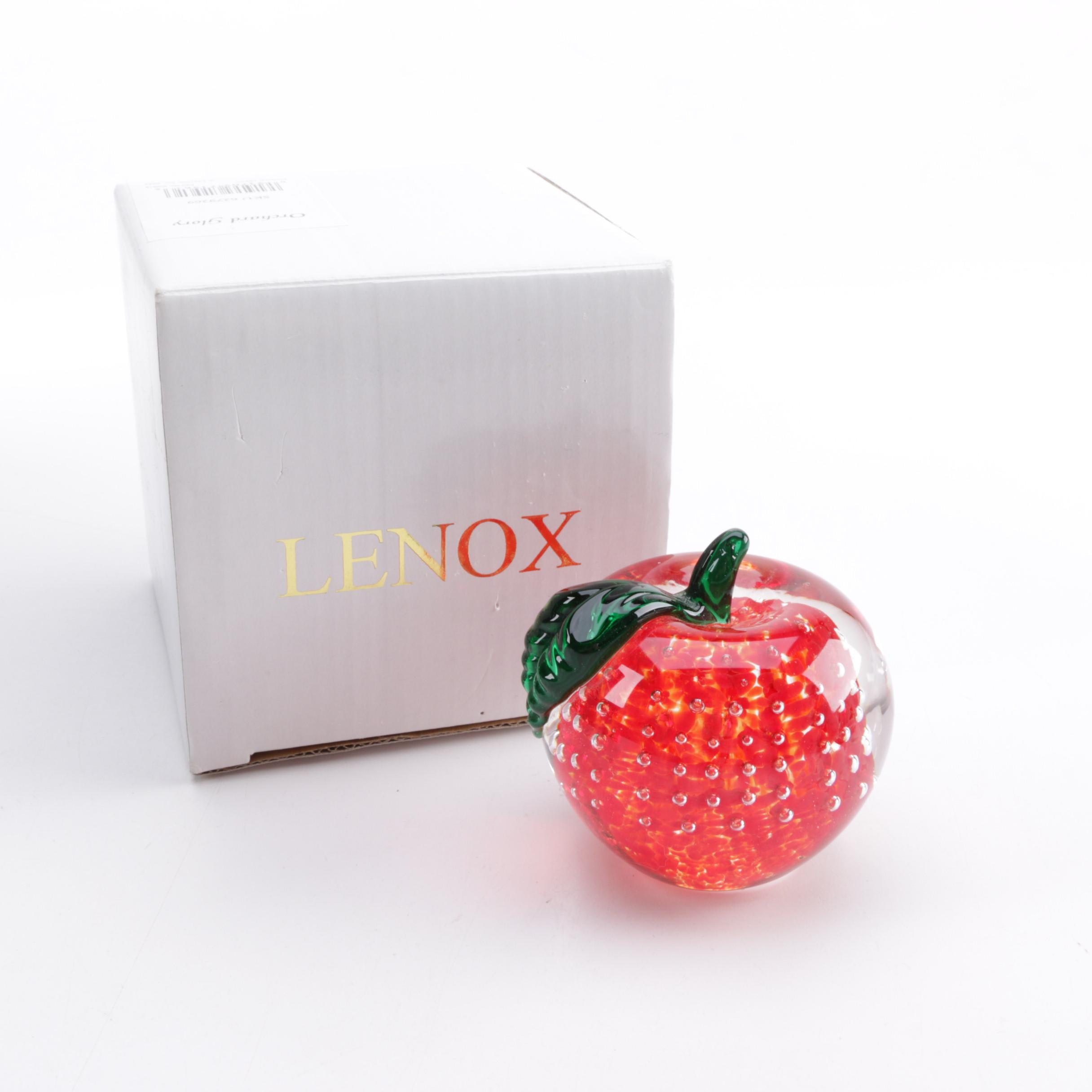 Lenox Apple Paperweight