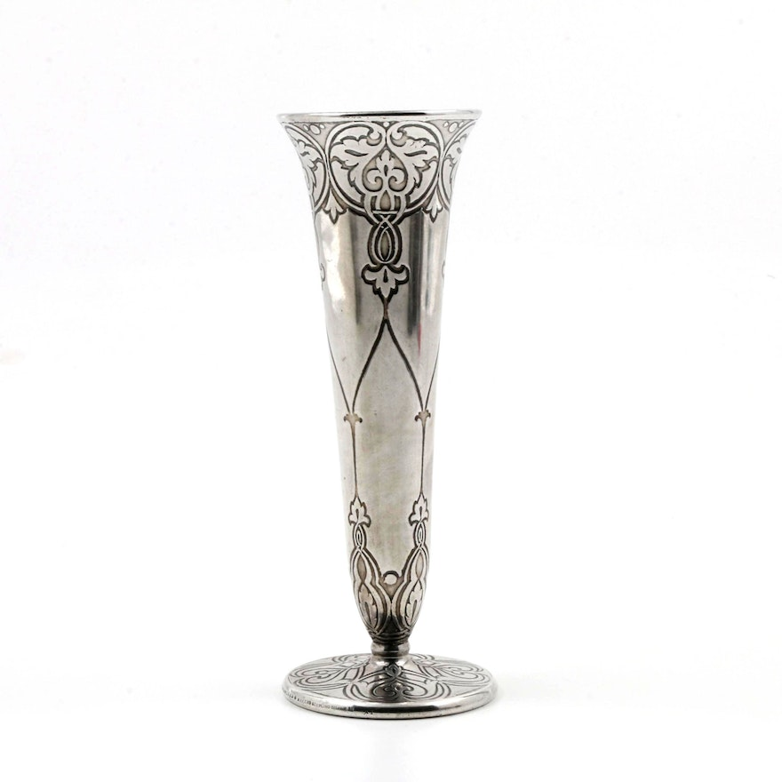 Early 20th Century Tiffany Co Weighted Sterling Vase Ebth