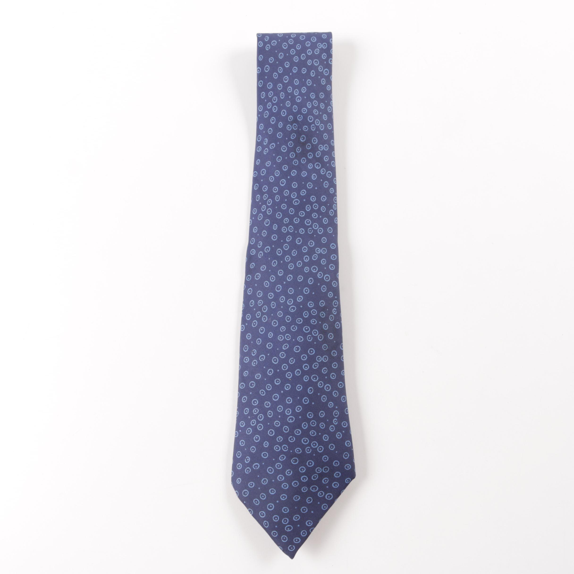 Hermès Silk Bubble Polka Dot Necktie