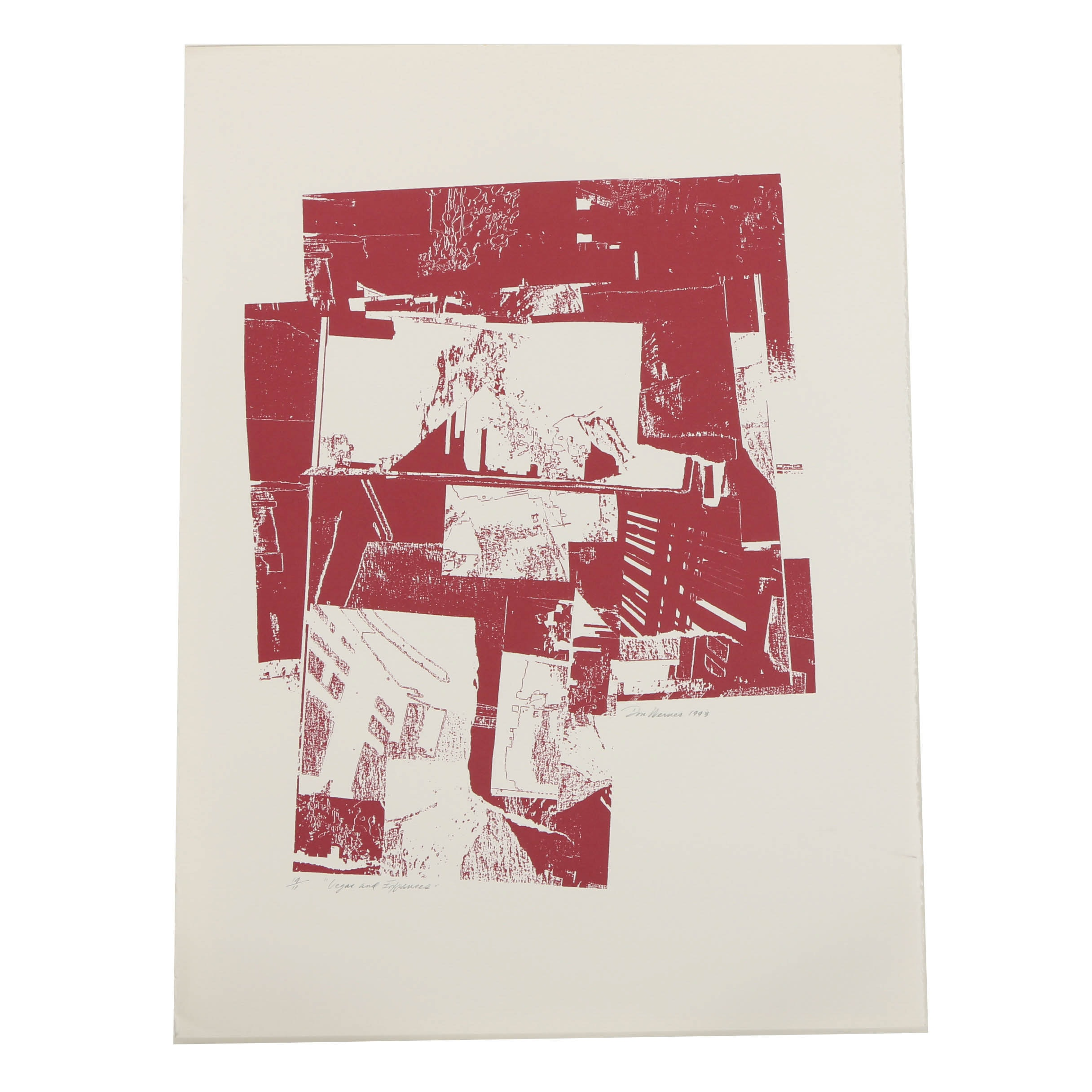 """Don Werner Limited Edition Serigraph on Paper """"Vegas and Expanses"""""""
