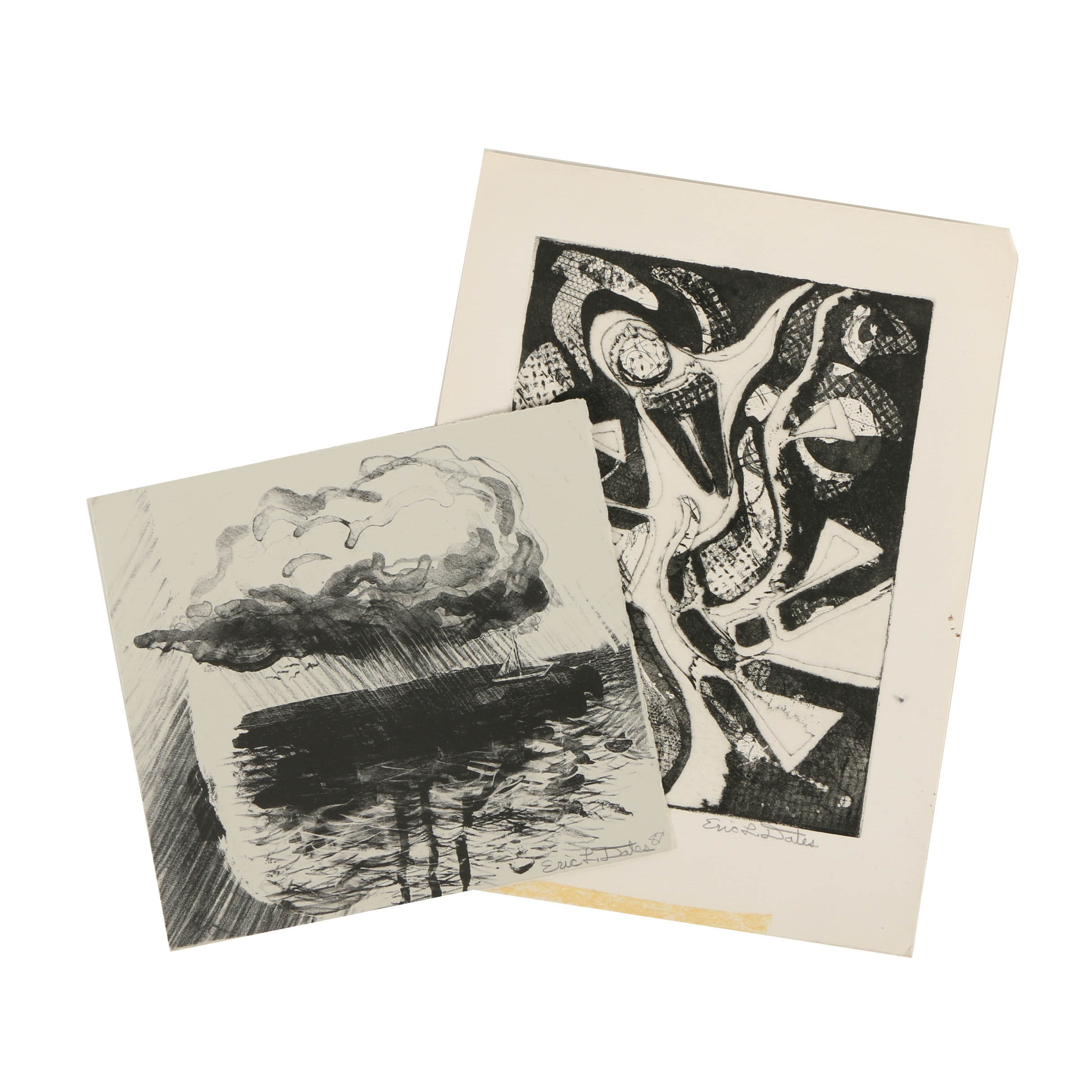 Pair of Eric L. Dates Abstract Prints on Paper