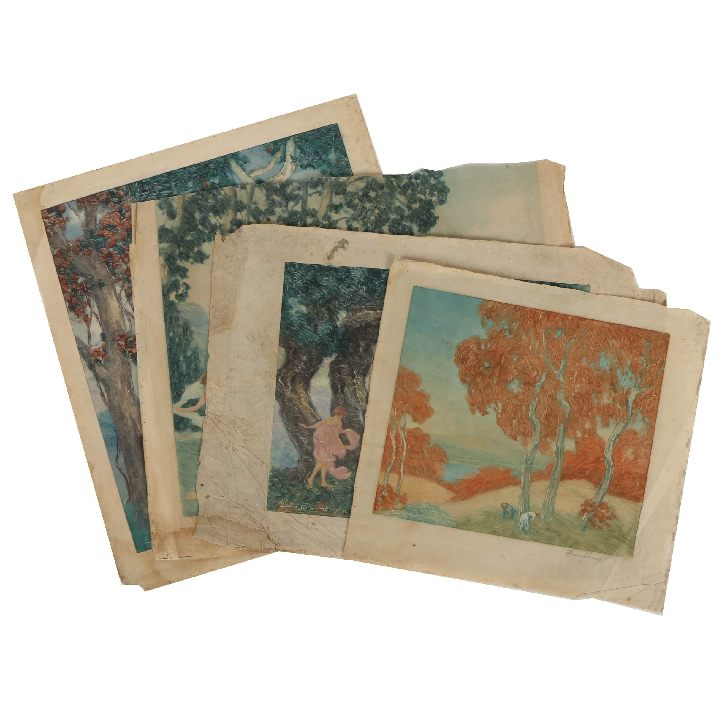 David W. Humphrey Lithographs on Paper of Landscapes and Classical Scenes