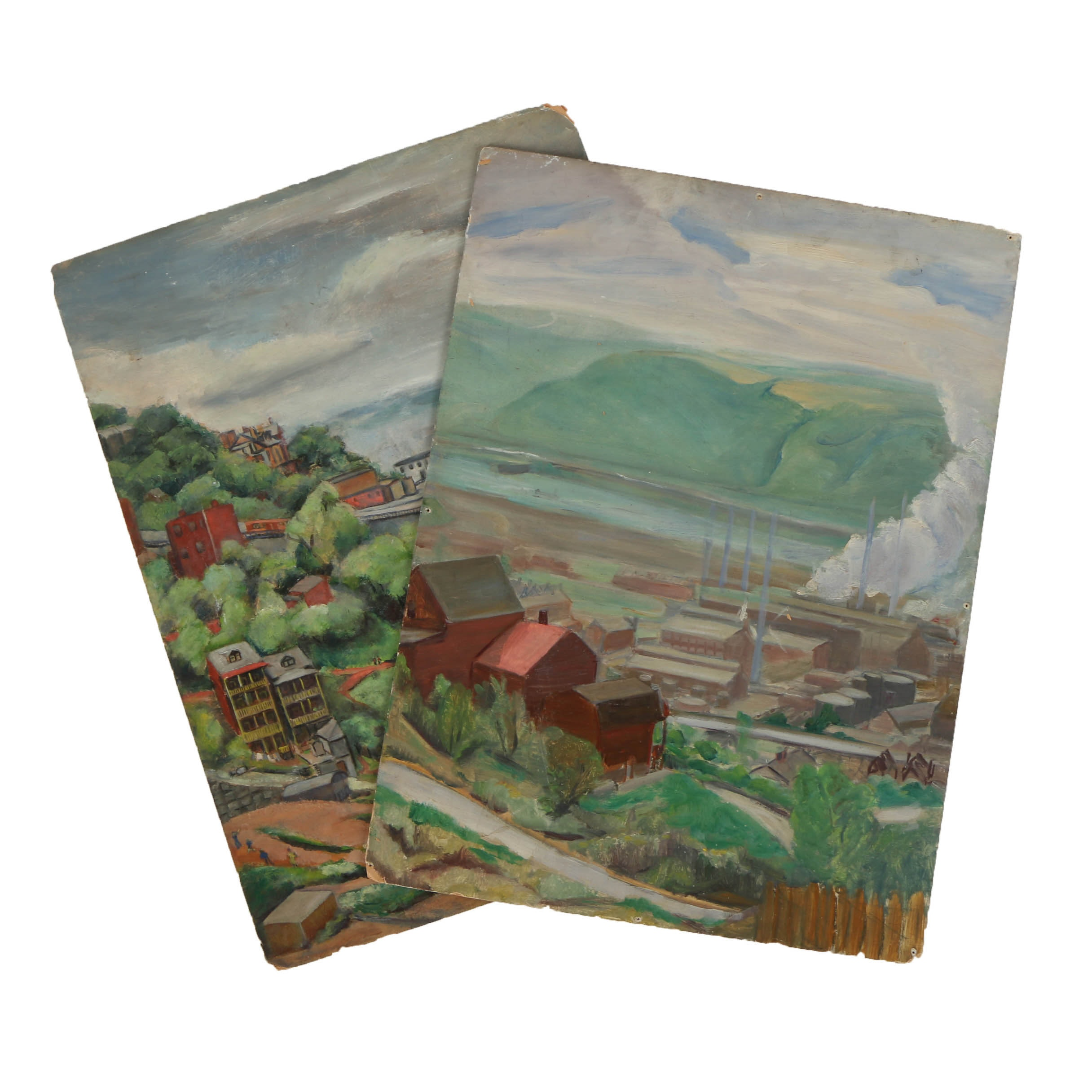 Pair of Oil Landscapes on Board