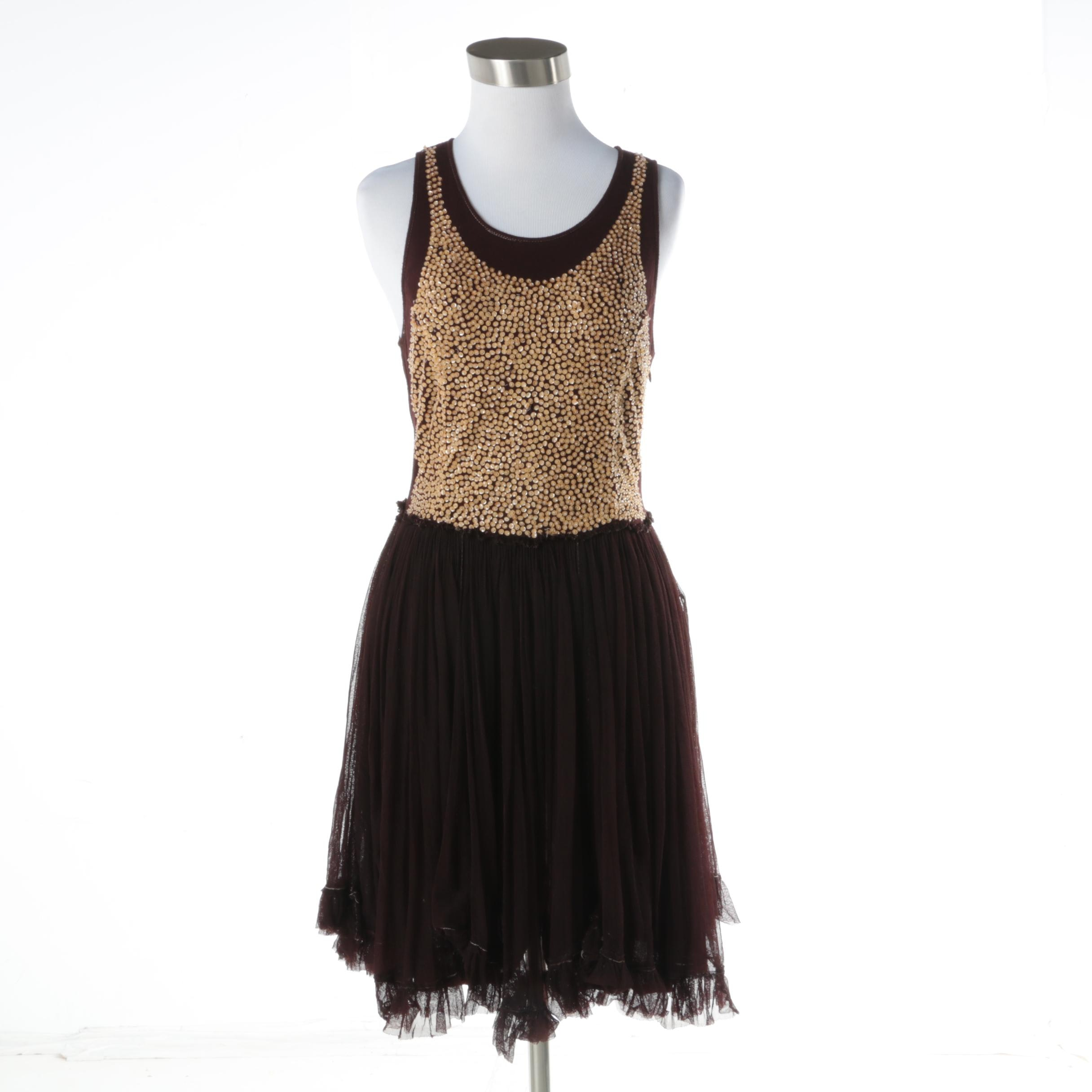 Cooper Tinker Belle Chocolate and Gold Sequin Dress