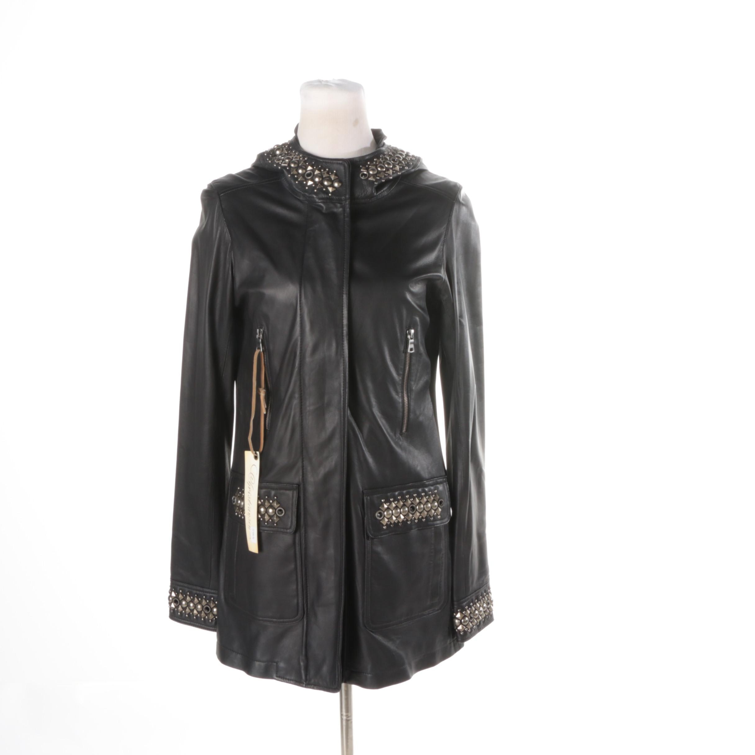 Women's Christiansen Black Studded Leather Jacket