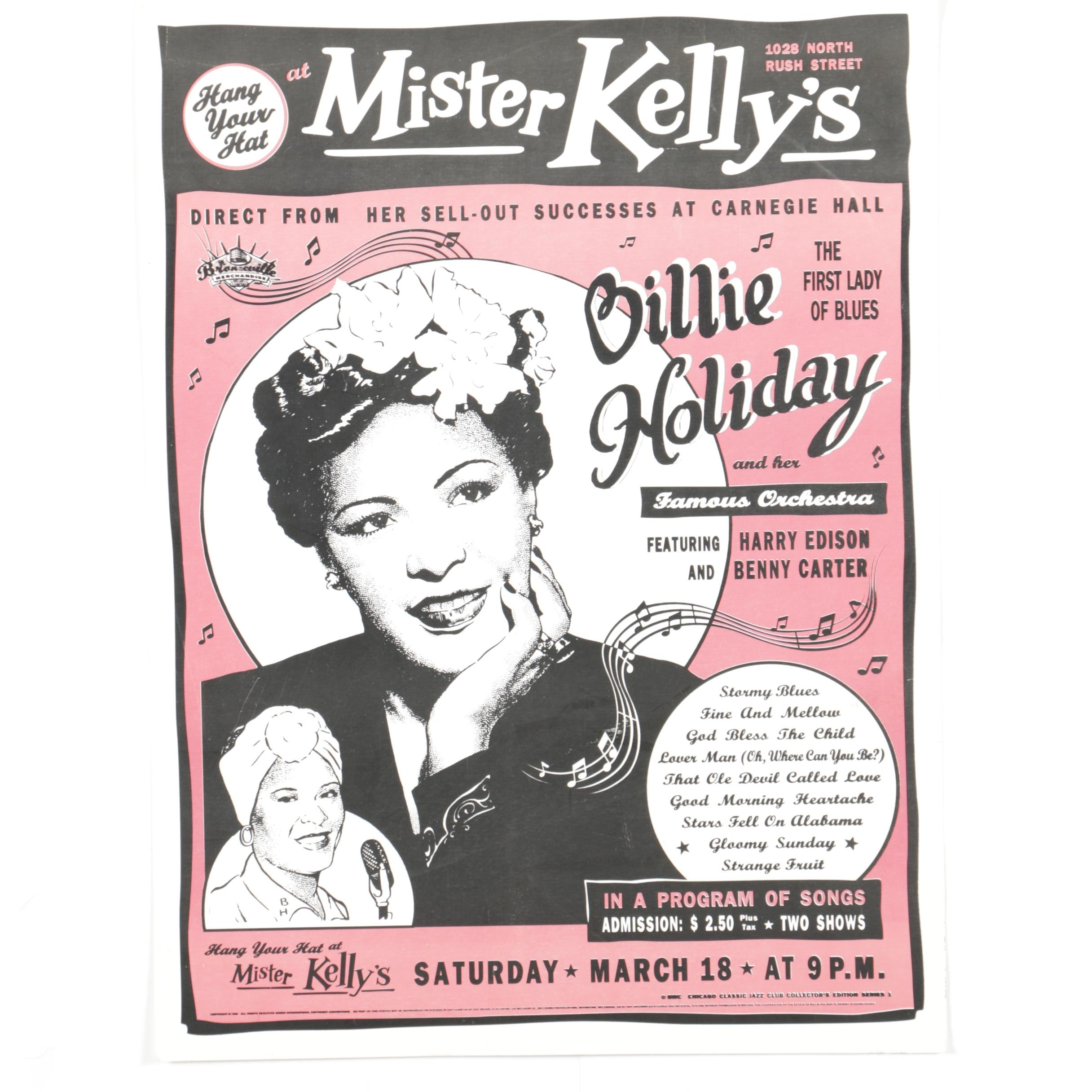 Serigraph on Paper Billie Holiday Advertisement
