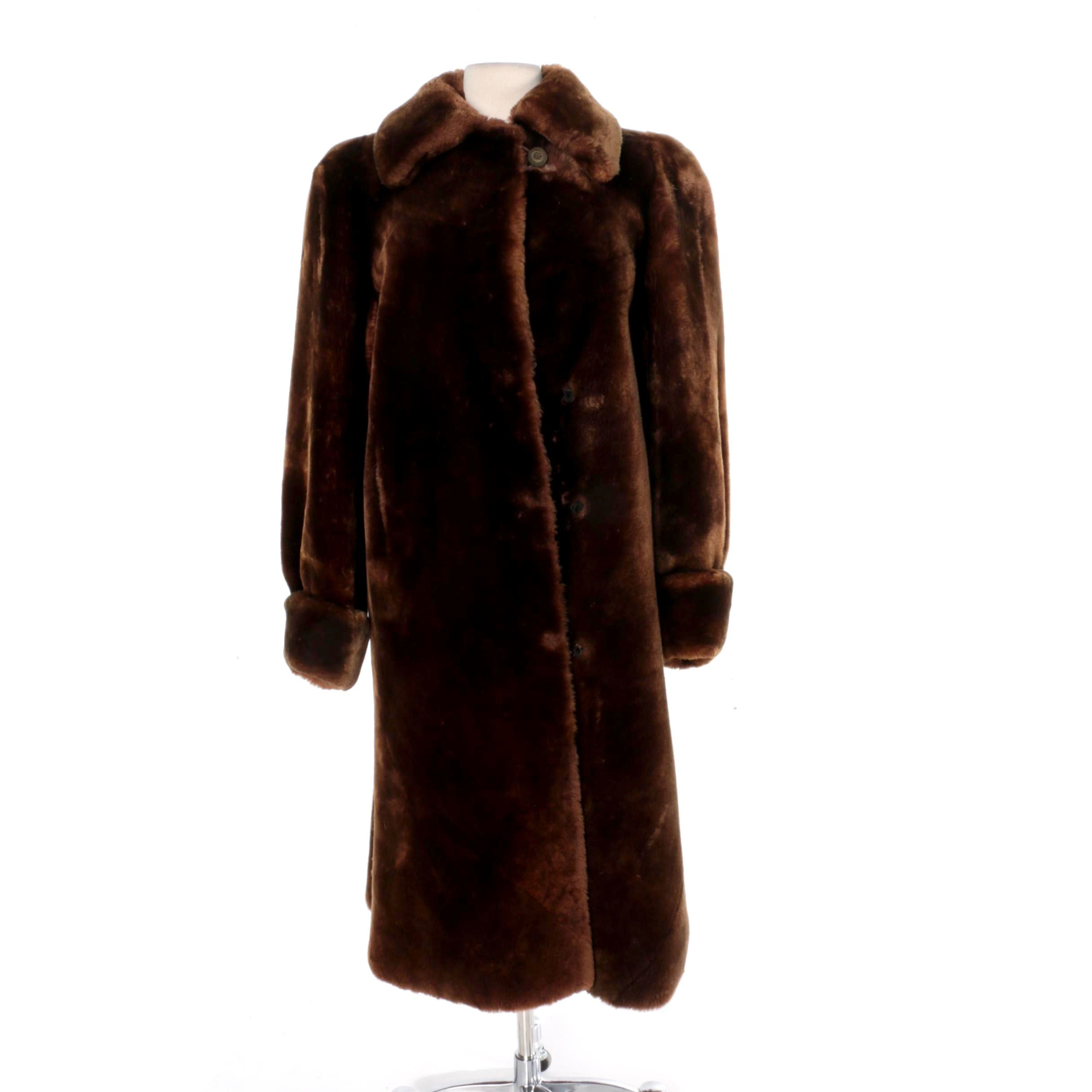 Women's Vintage Sheared Beaver Fur Coat