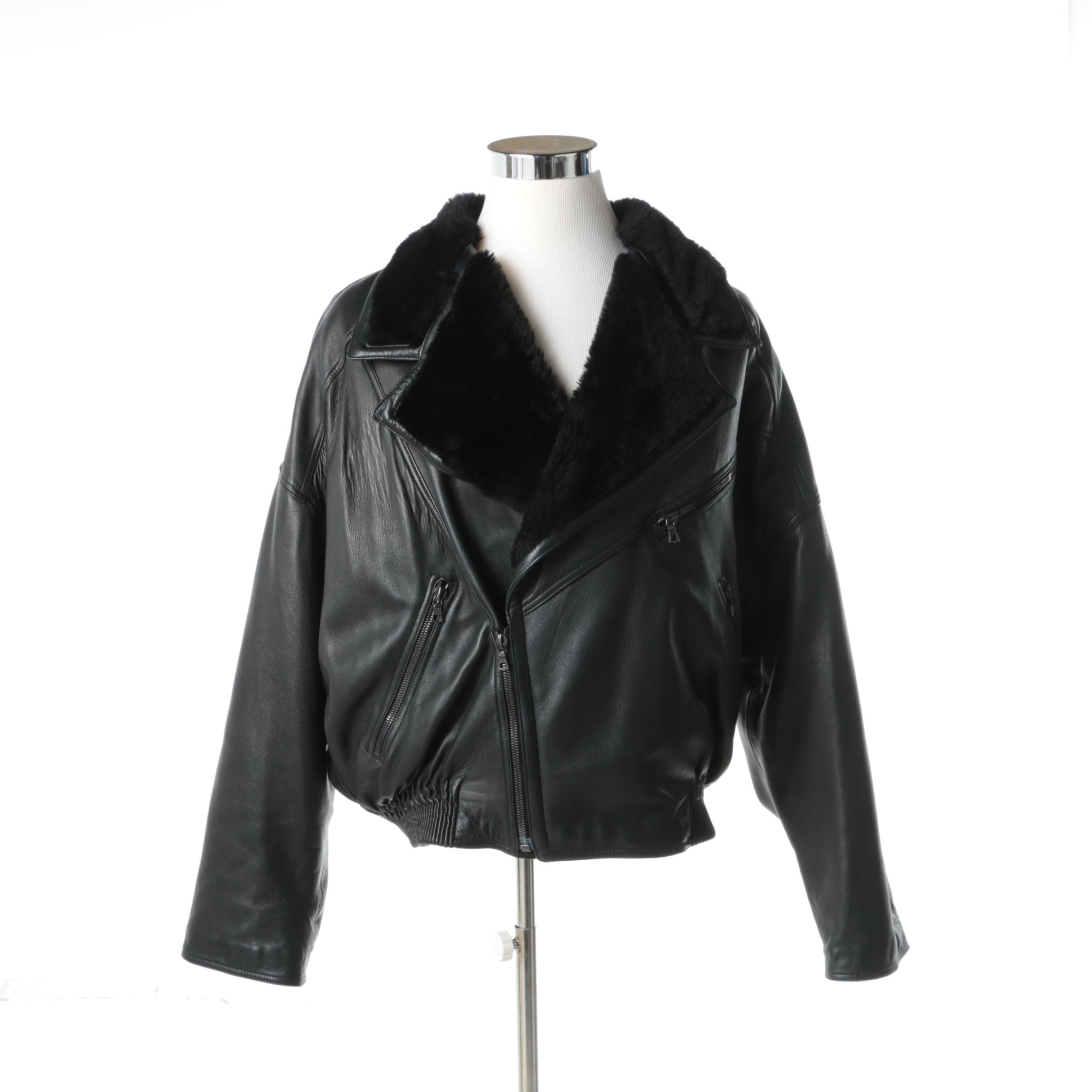 Men's Vintage Gianni Versace Leather Jacket