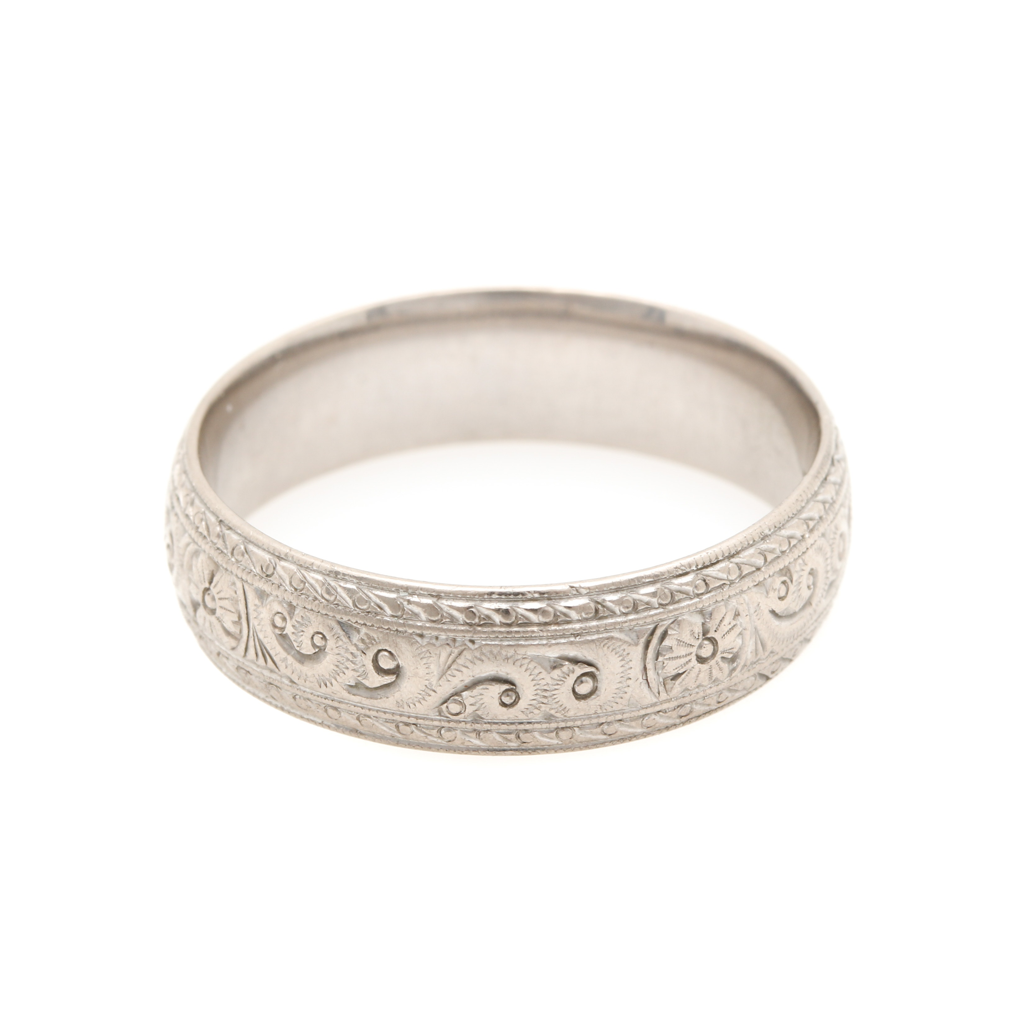 vintage charles green u0026 son 18k white gold ring