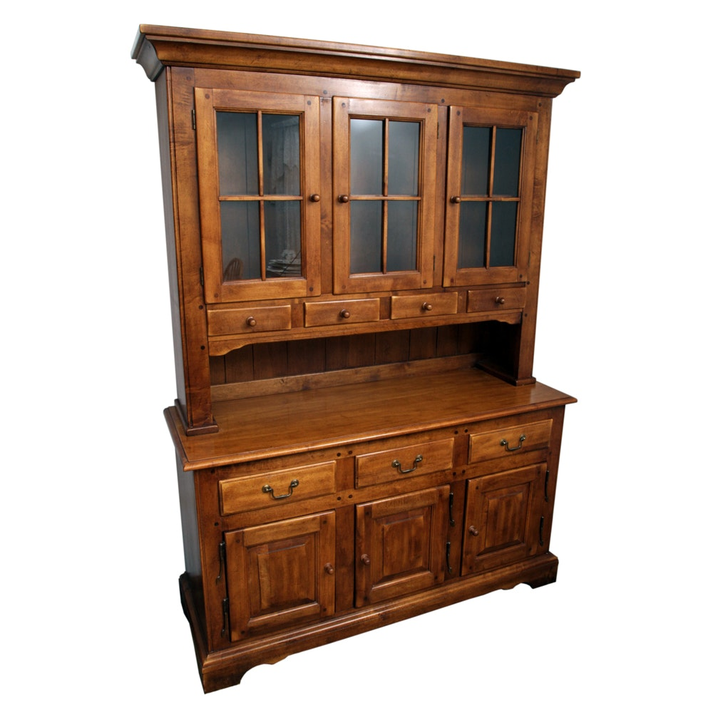 Early American Style Hutch Cabinet by Link-Taylor