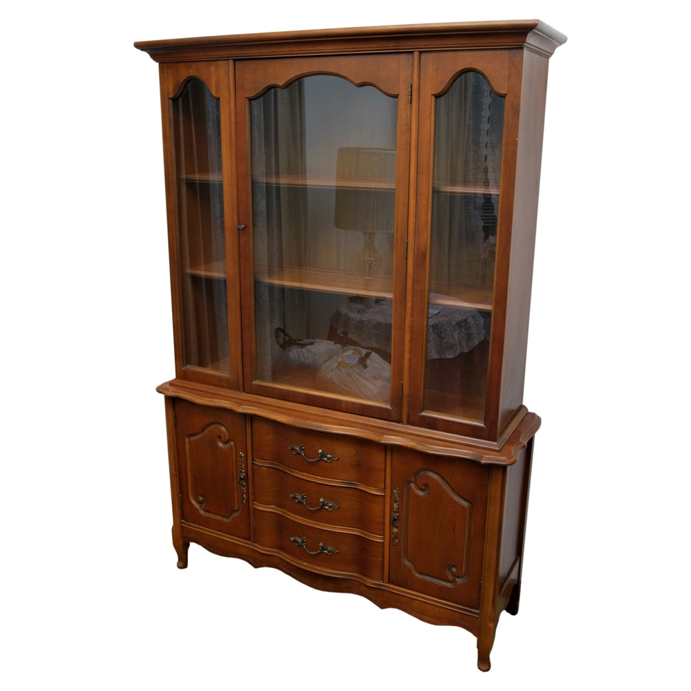 French Provincial Style China Cabinet by Bassett Furniture