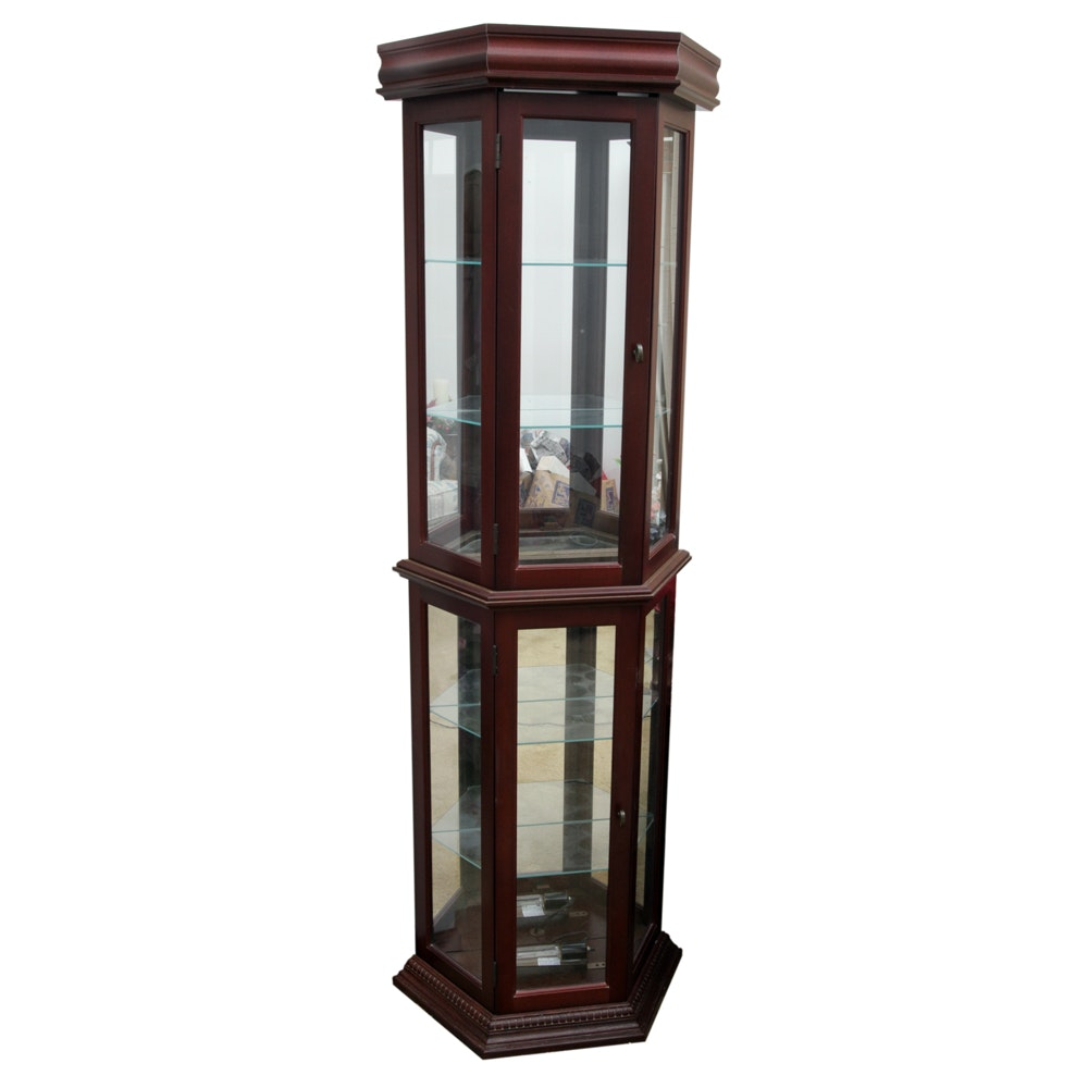 Glass Front Lighted Curio Cabinet