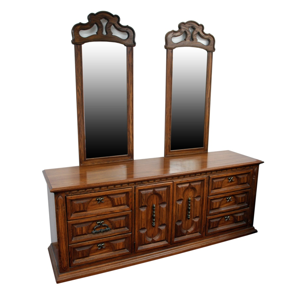 """""""Costa Del Sol"""" Dresser with Mirrors by Thomasville"""