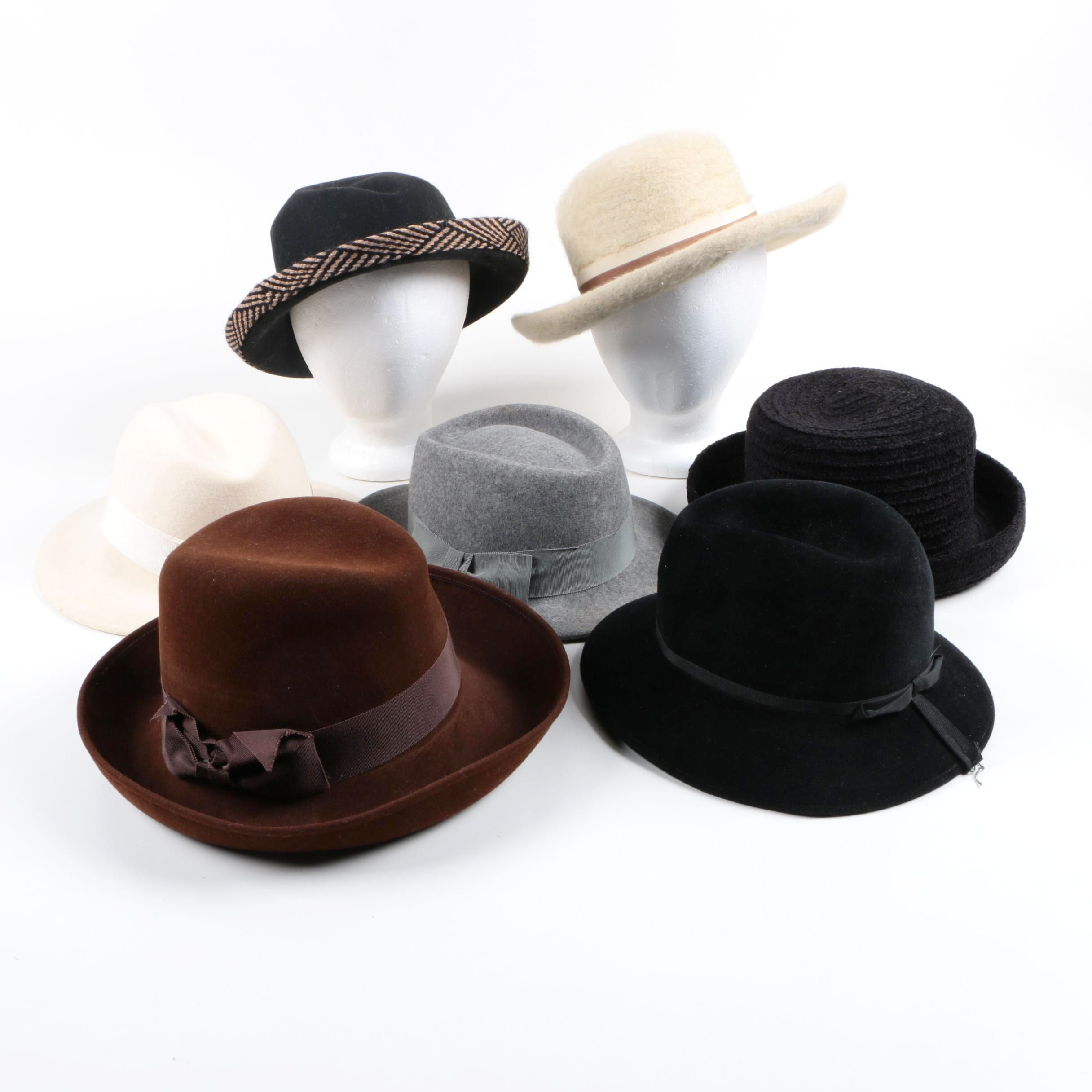 Women's Vintage Fedoras and Sun Hat