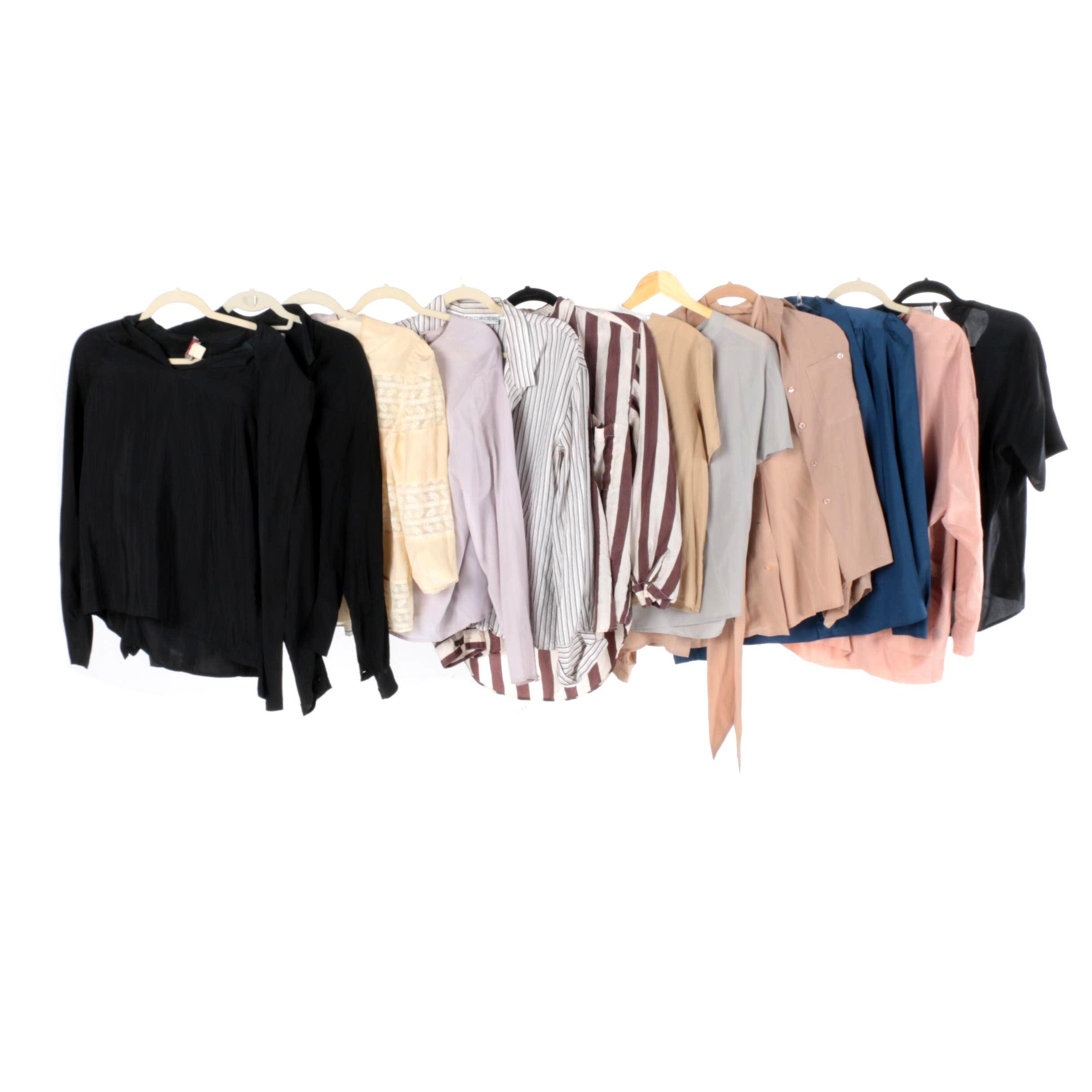 Women's Silk Blouses Including Anna & Frank