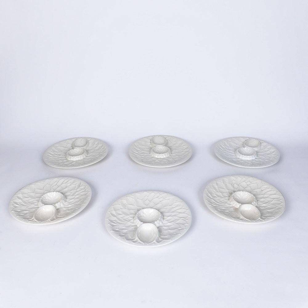 Vintage Italian Ceramic Artichoke Plates